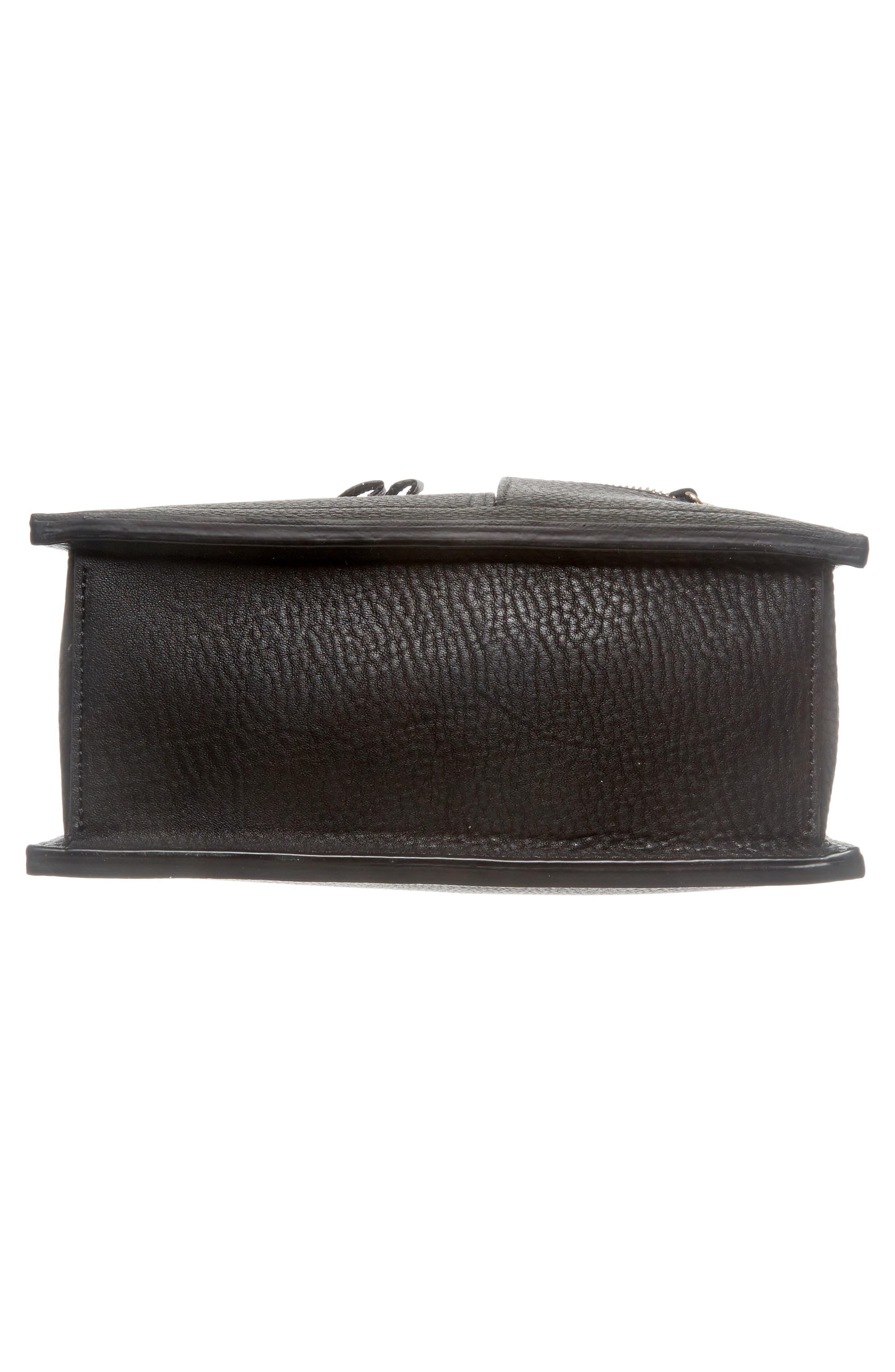 Kit Leather Convertible Shoulder Bag,                             Alternate thumbnail 7, color,                             TRUE BLACK