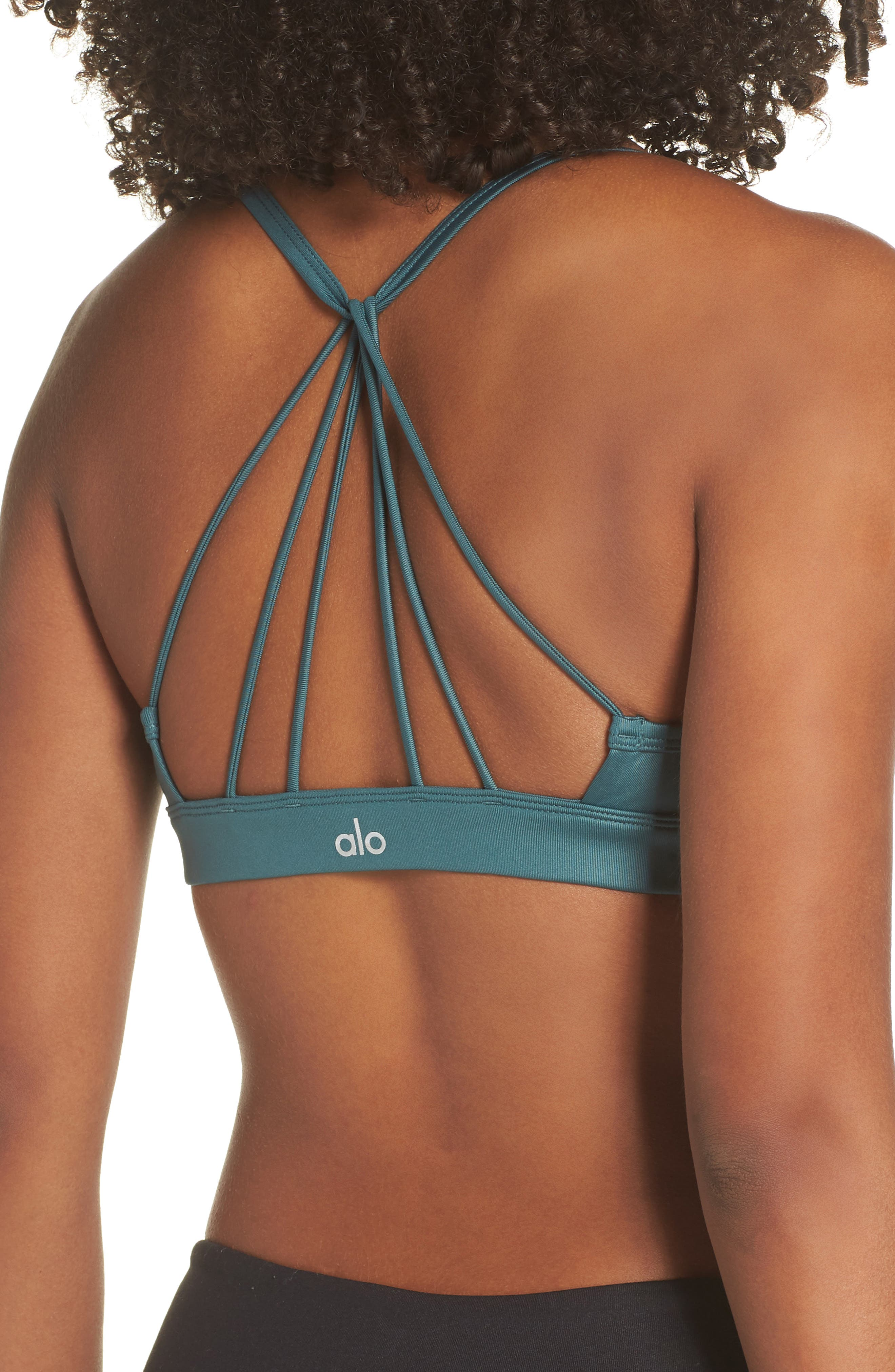 'Sunny Strappy' Soft Cup Bralette,                             Alternate thumbnail 2, color,                             442