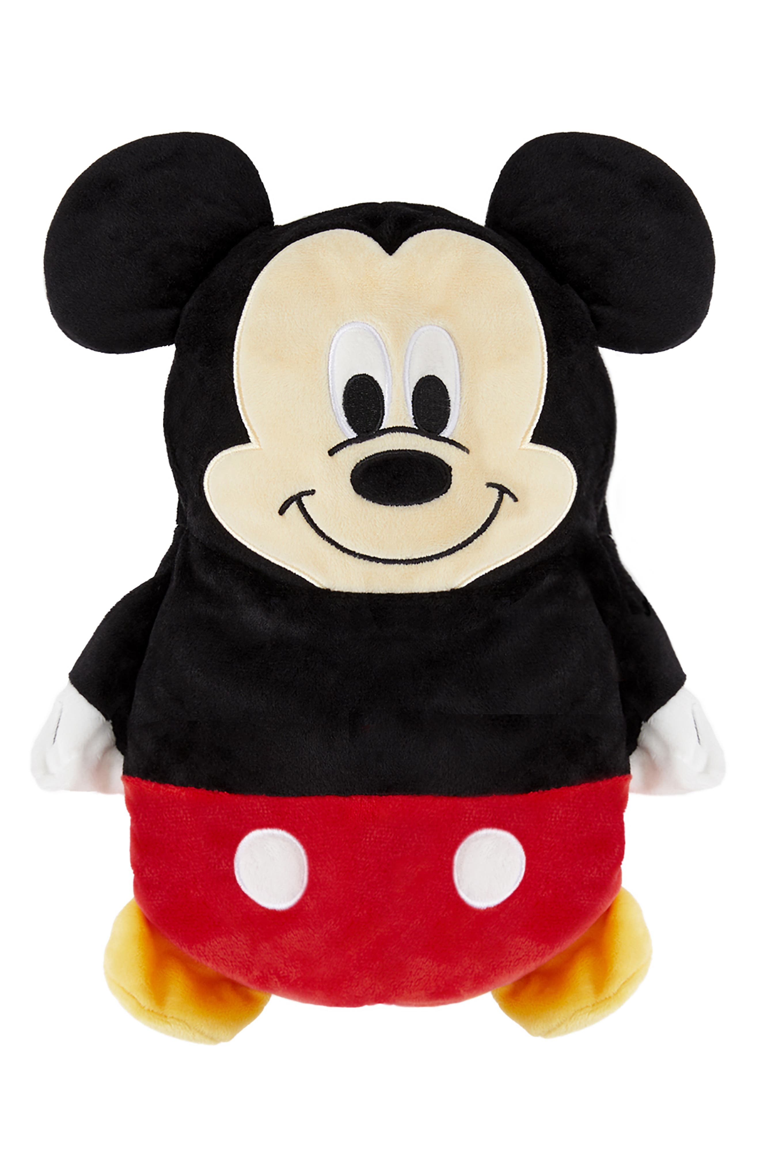 Mickey Mouse<sup>®</sup> 2-in-1 Stuffed Animal Hoodie,                             Main thumbnail 1, color,                             BLACK / RED MIX