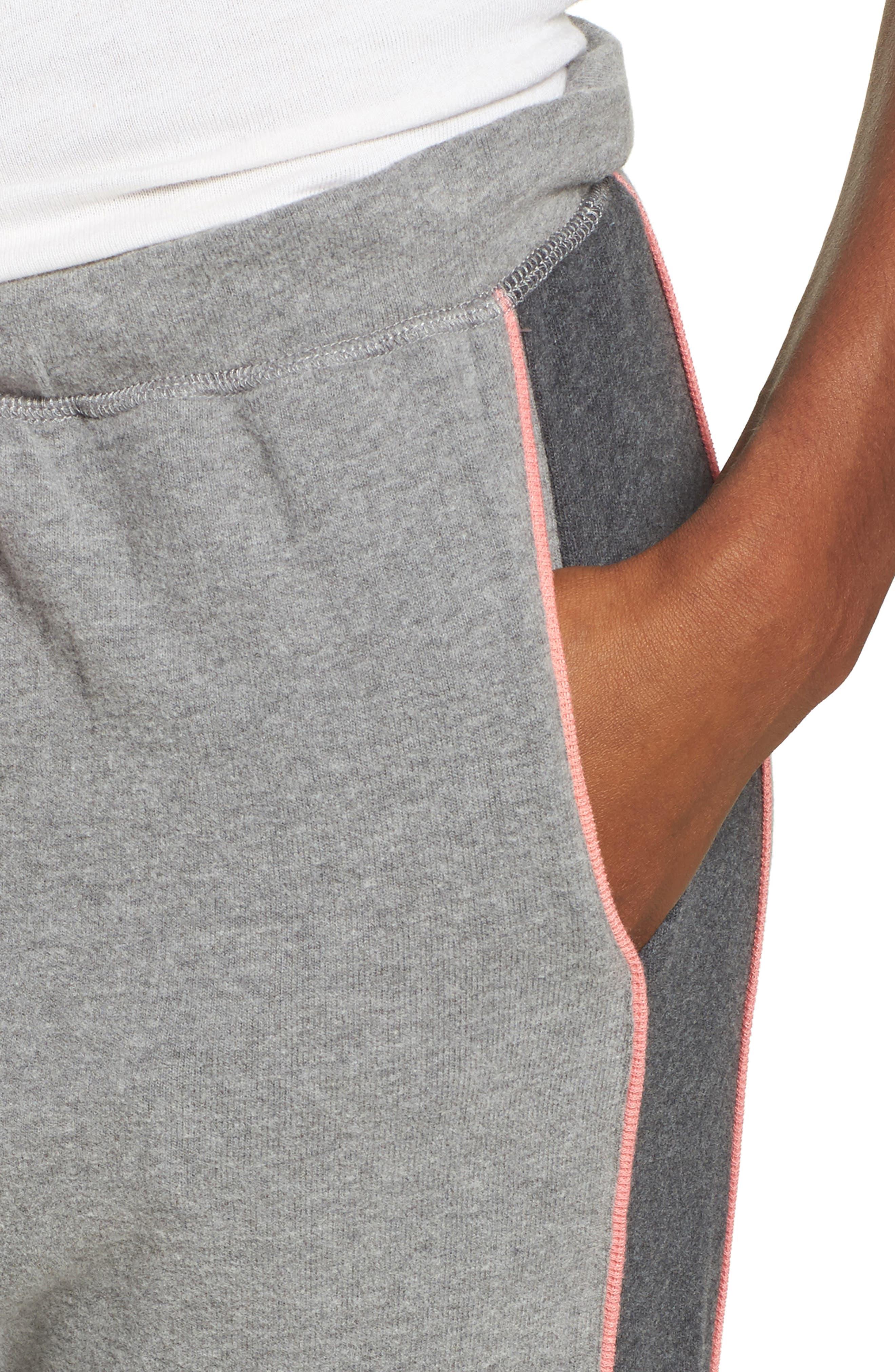 Brushed Hacci Lounge Jogger Pants,                             Alternate thumbnail 4, color,                             052