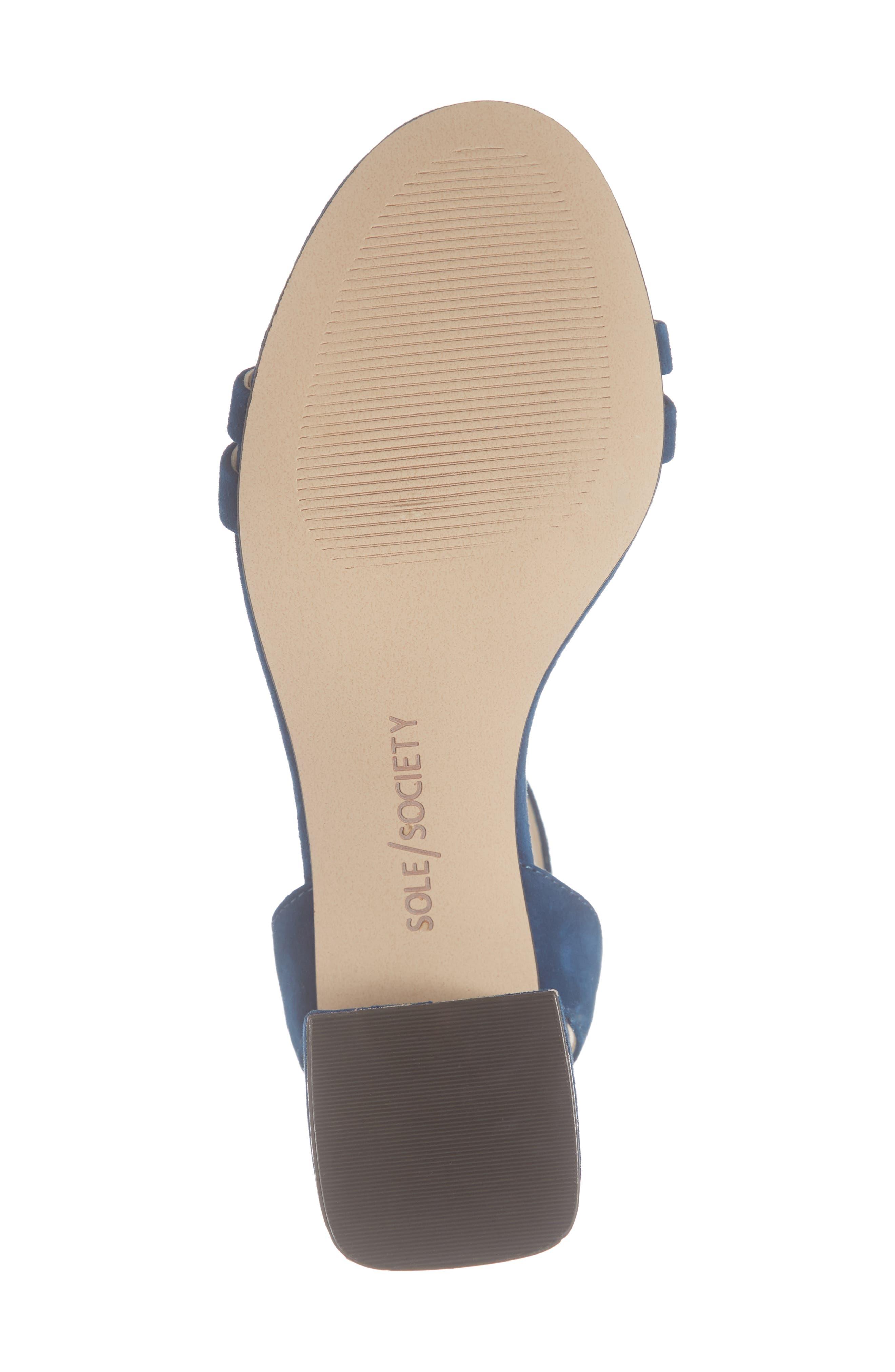 Hezzter Studded Sandal,                             Alternate thumbnail 6, color,                             CERULEAN BLUE SUEDE