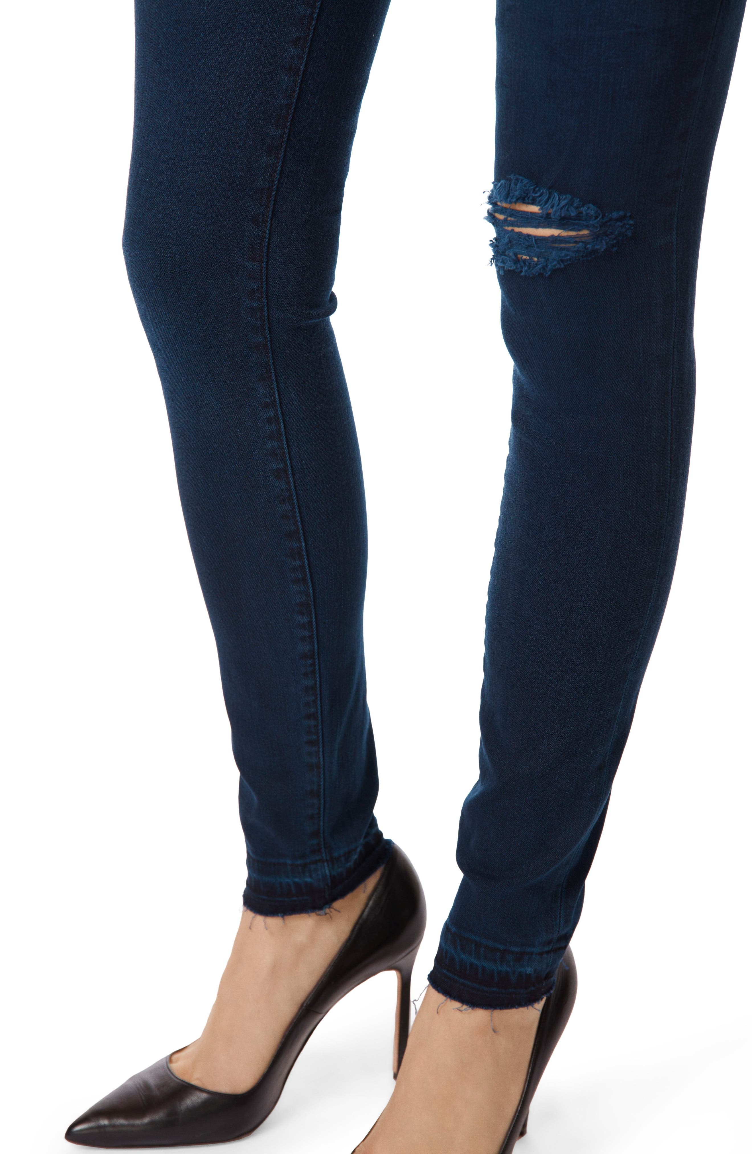 Alana Released Hem High Rise Crop Skinny Jeans,                             Alternate thumbnail 5, color,                             INVOKE DESTRUCT