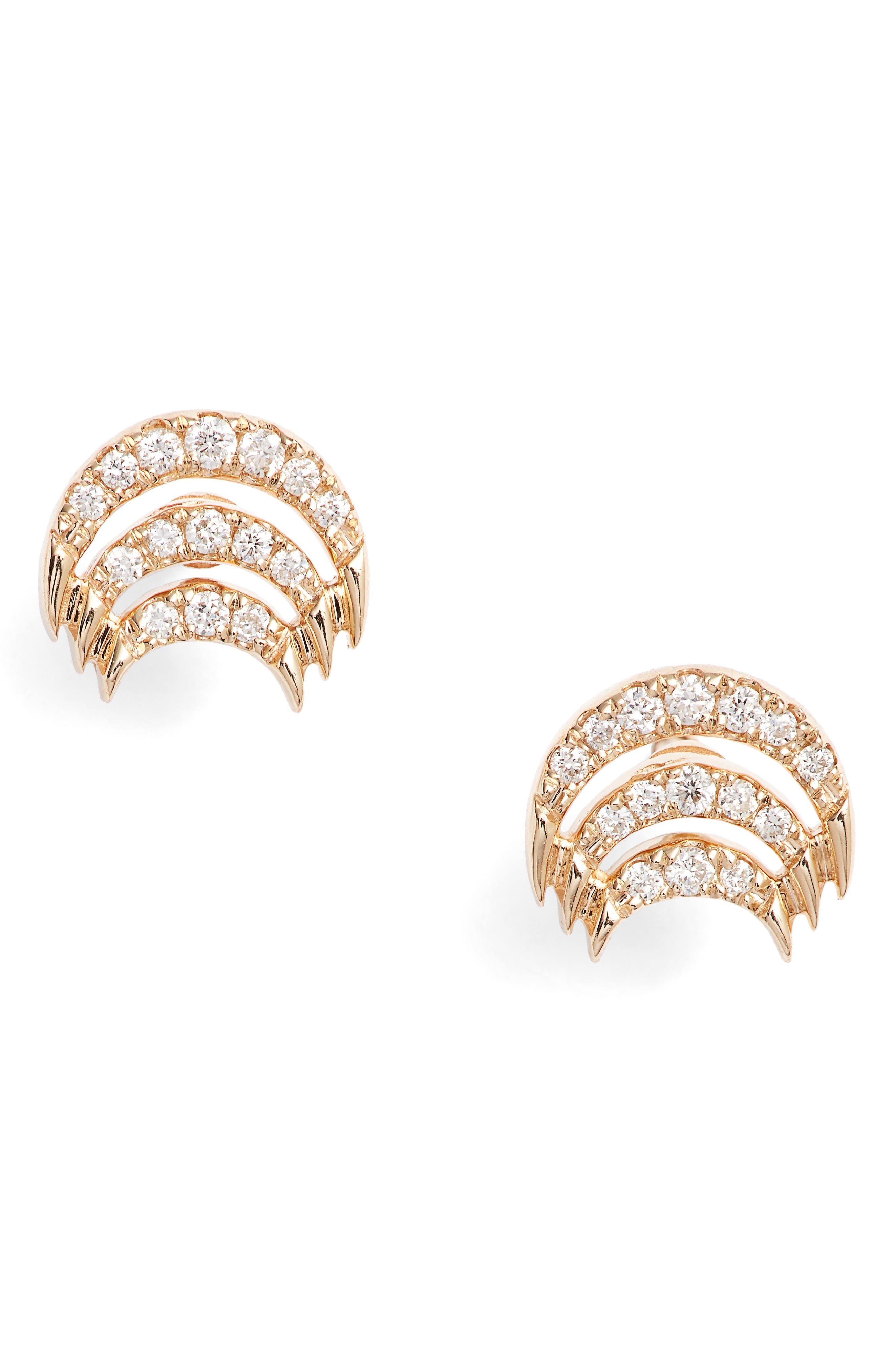 Isla Rio Diamond Stud Earrings,                             Main thumbnail 1, color,