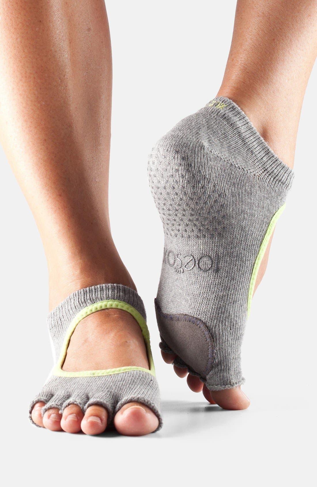 'Dance Plié' Half-Toe Gripper Socks,                             Main thumbnail 1, color,                             020