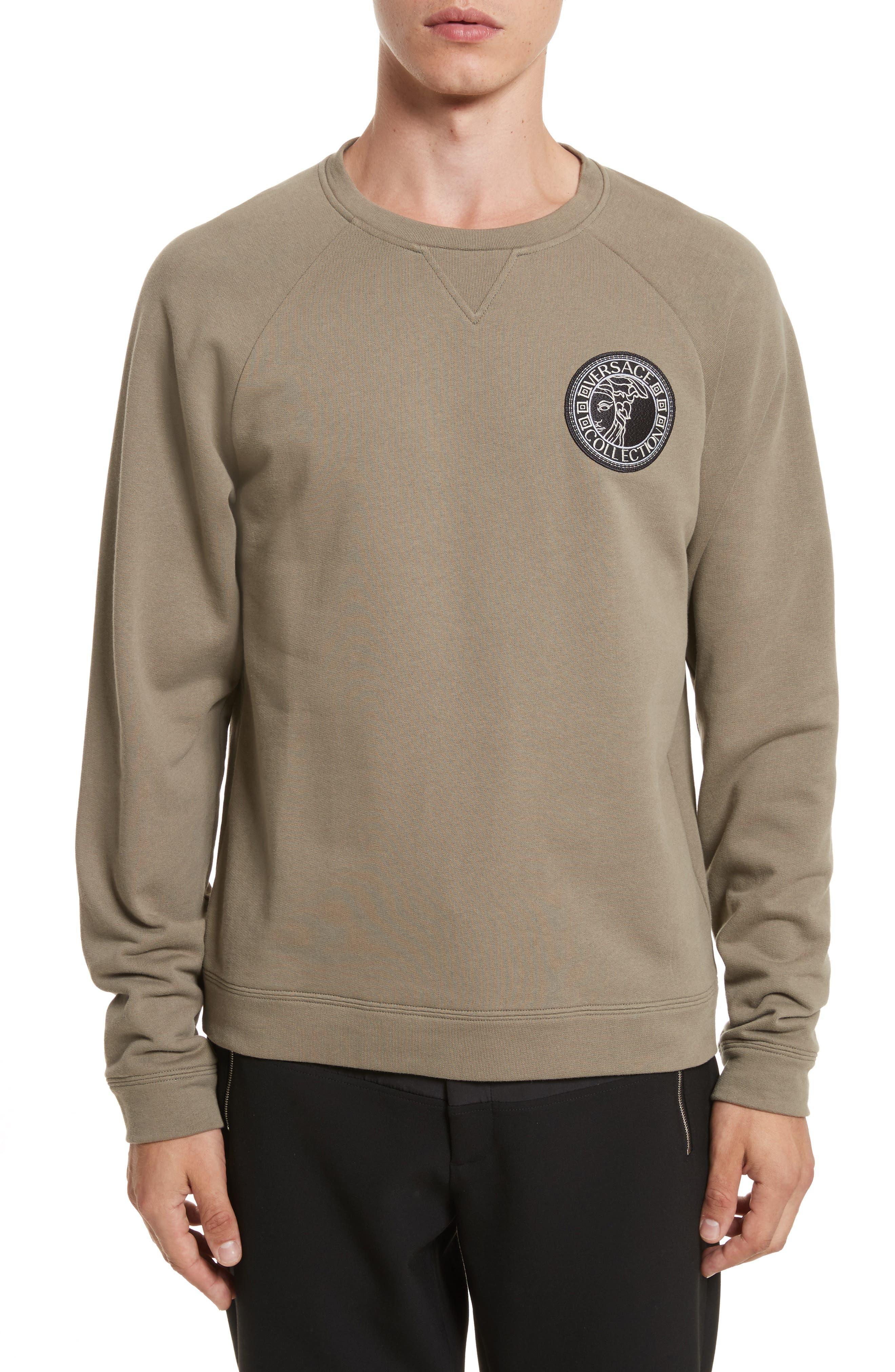 Patch Logo Sweatshirt,                             Main thumbnail 1, color,                             222