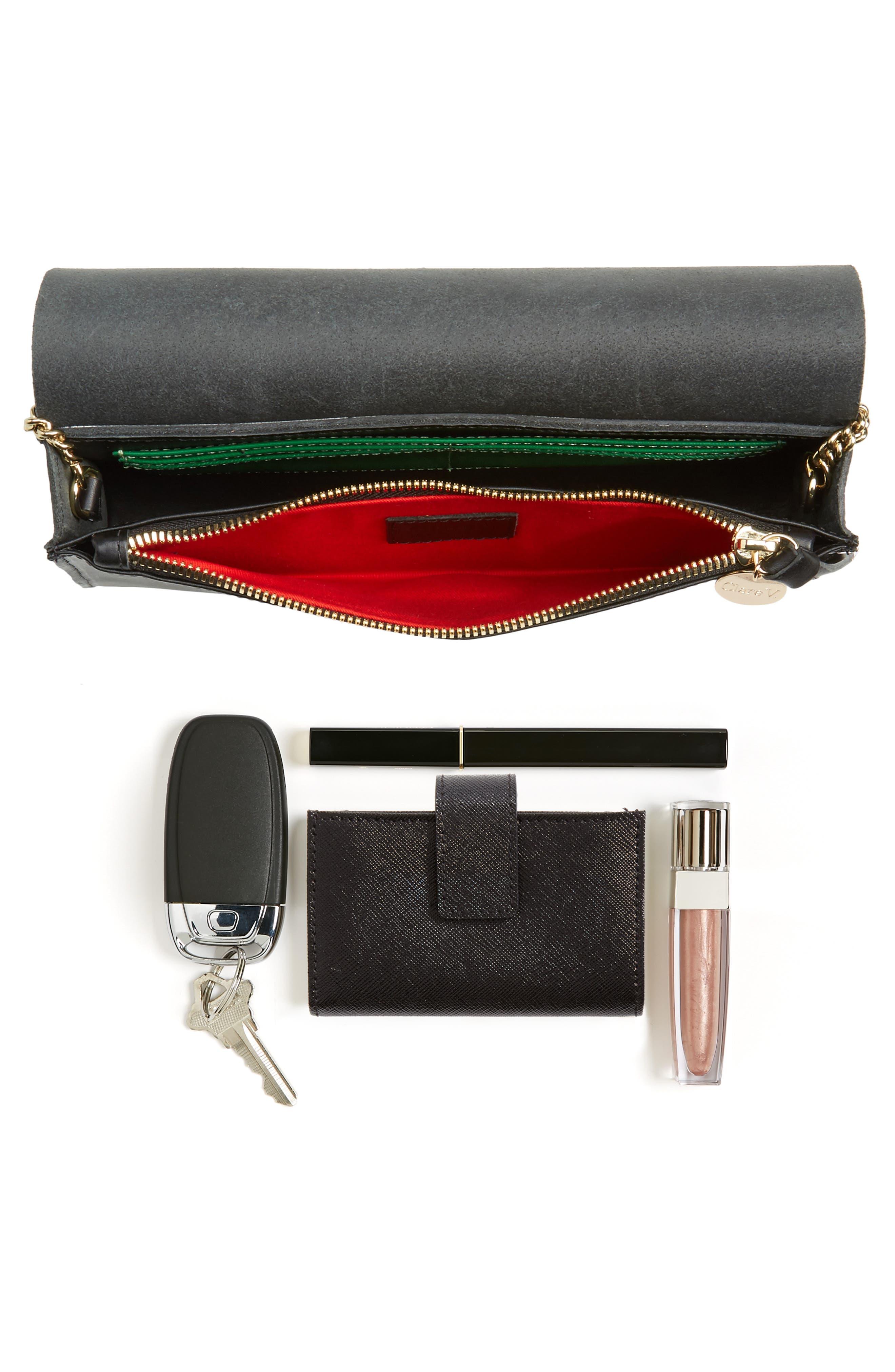 Colette Maison Leather Shoulder Bag,                             Alternate thumbnail 7, color,                             001