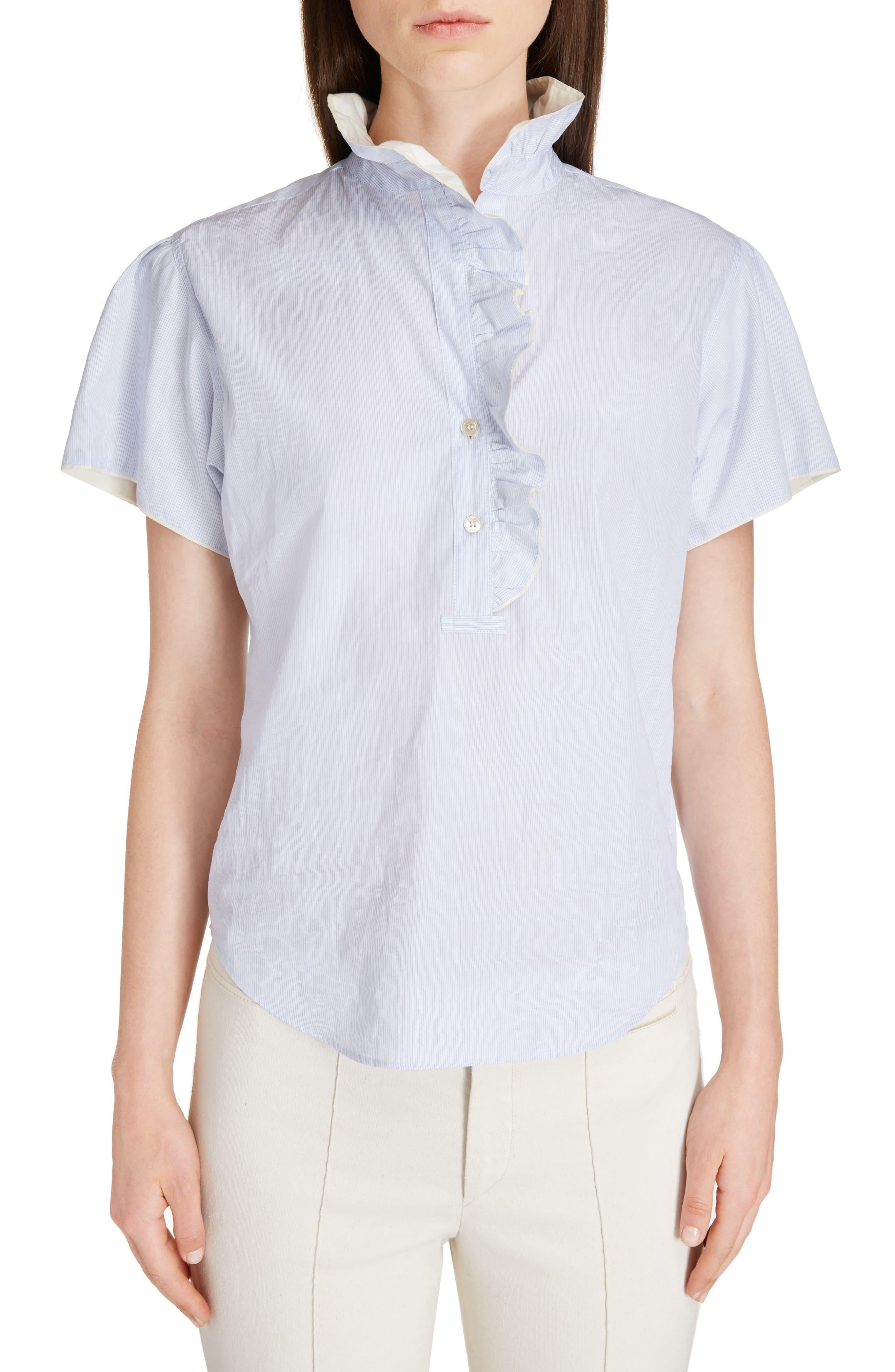 Jen Ruffle Cotton Top,                         Main,                         color, 400