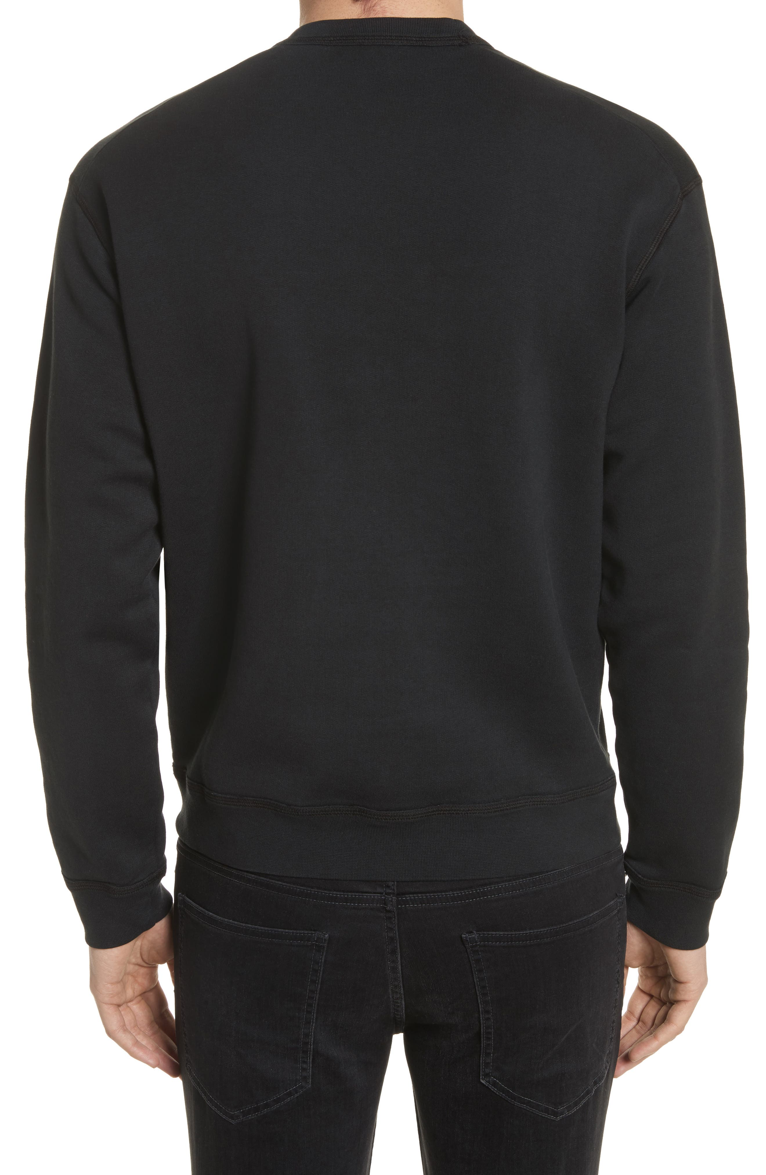 Icon Embroidered Crewneck Sweatshirt,                             Alternate thumbnail 2, color,                             001