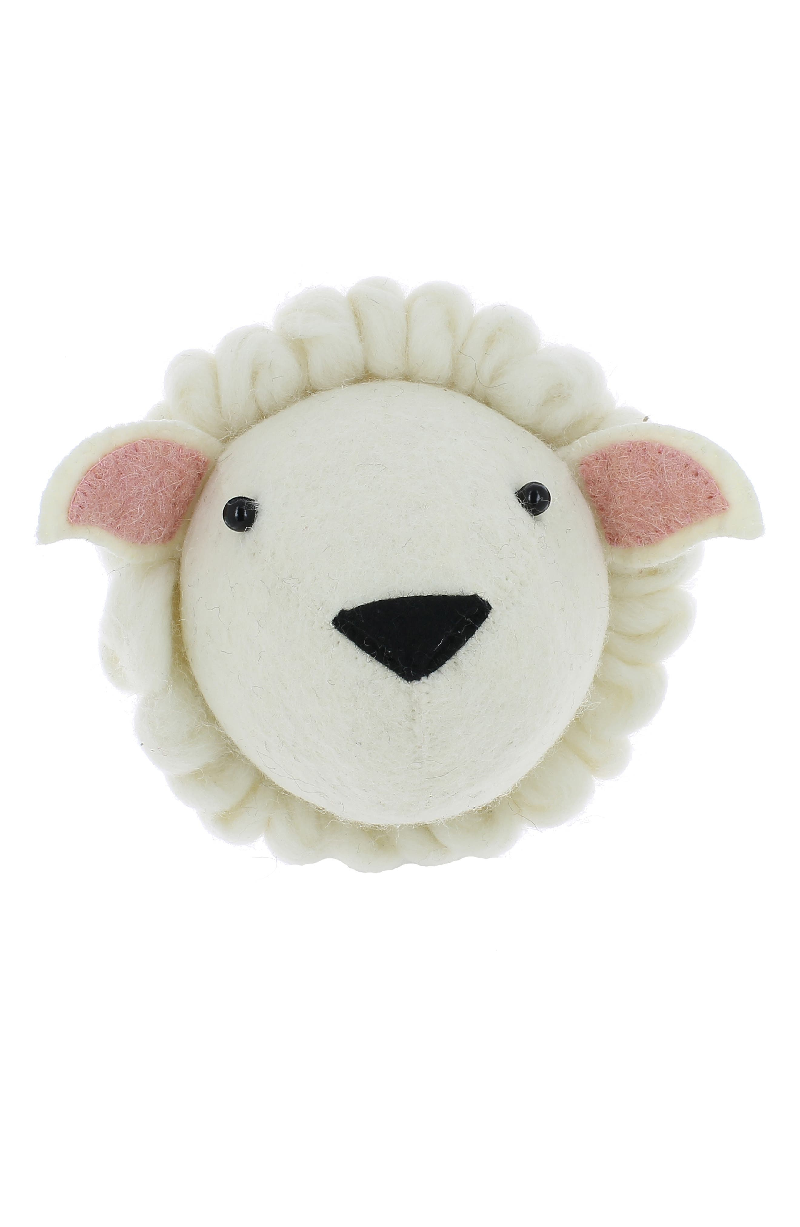 Fiona Walker Sheep Head Wall Art Size One Size  Ivory
