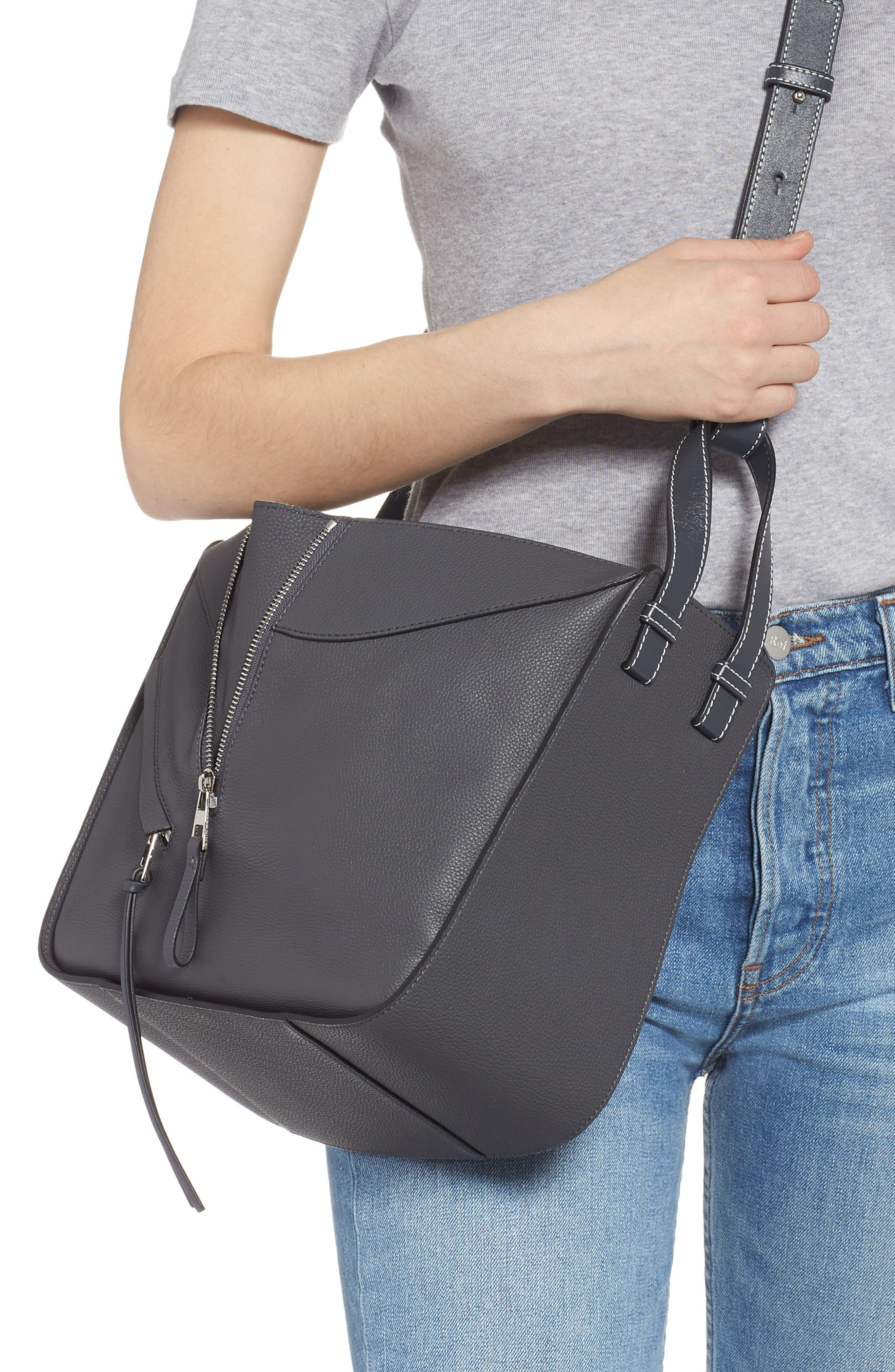LOEWE,                             Small Hammock Pebbled Leather Hobo,                             Alternate thumbnail 2, color,                             ANTHRACITE
