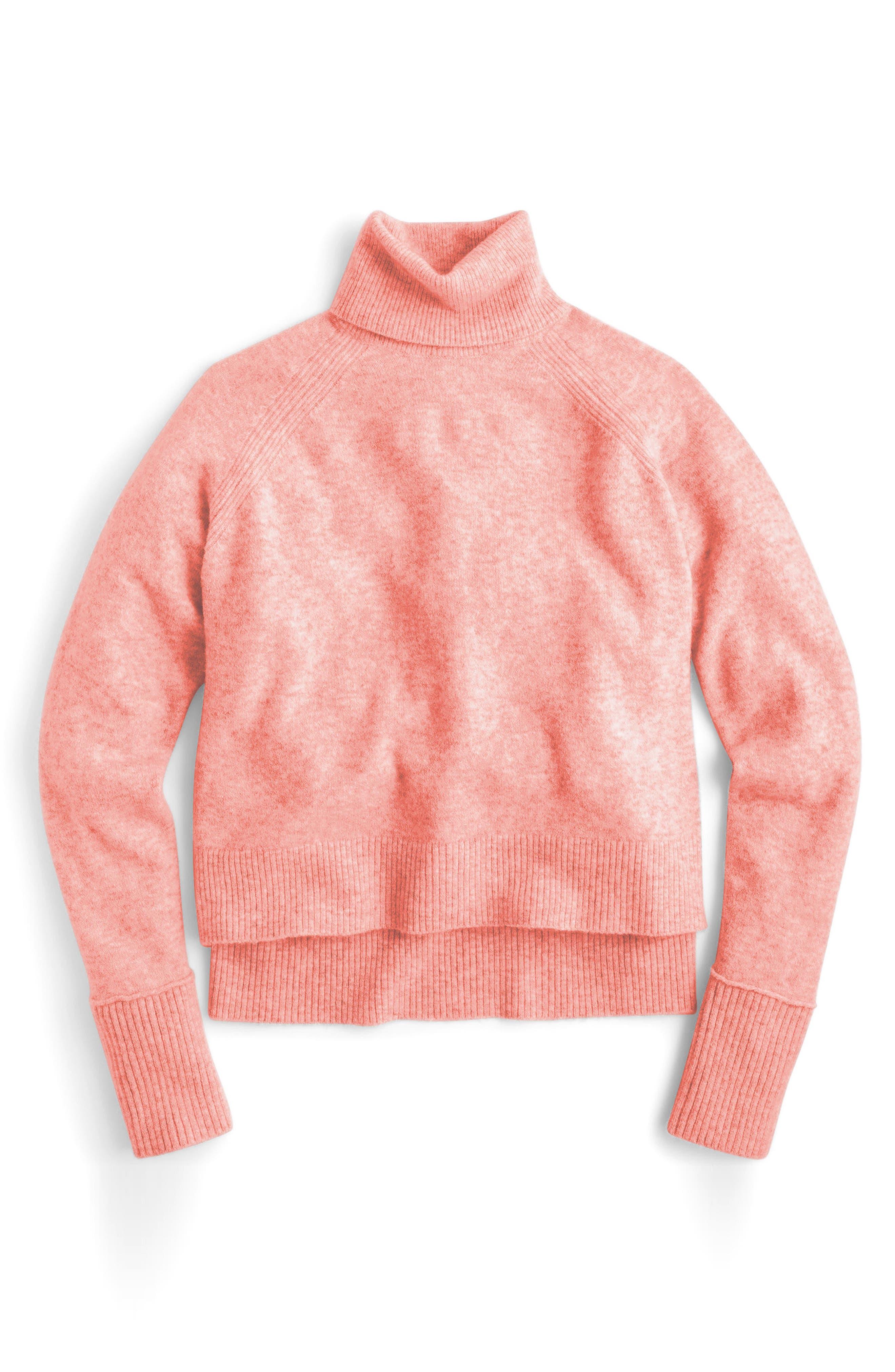 Side Slit Supersoft Turtleneck Sweater,                             Alternate thumbnail 7, color,