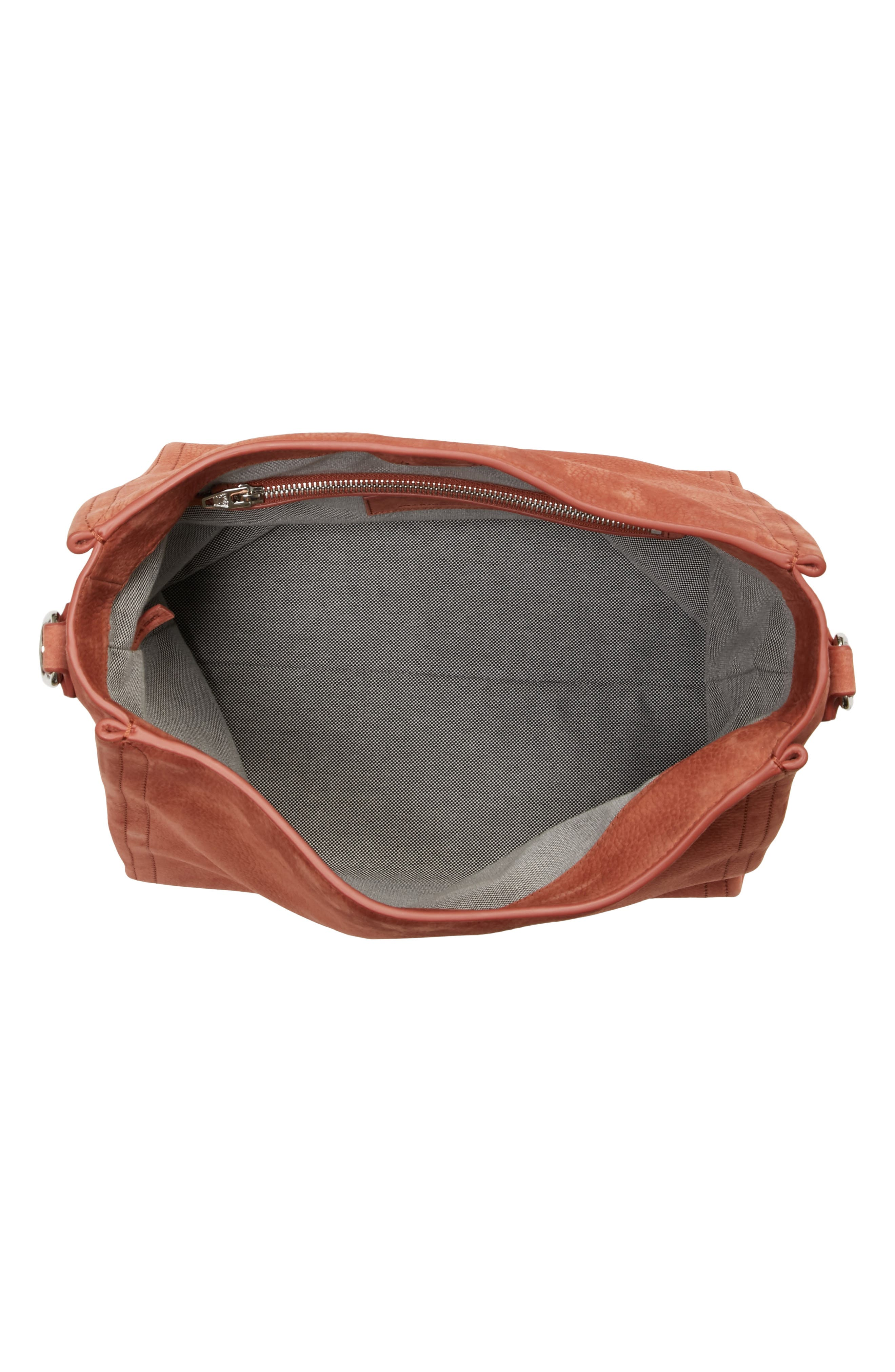 Darcy Pebbled Leather Hobo,                             Alternate thumbnail 4, color,                             200