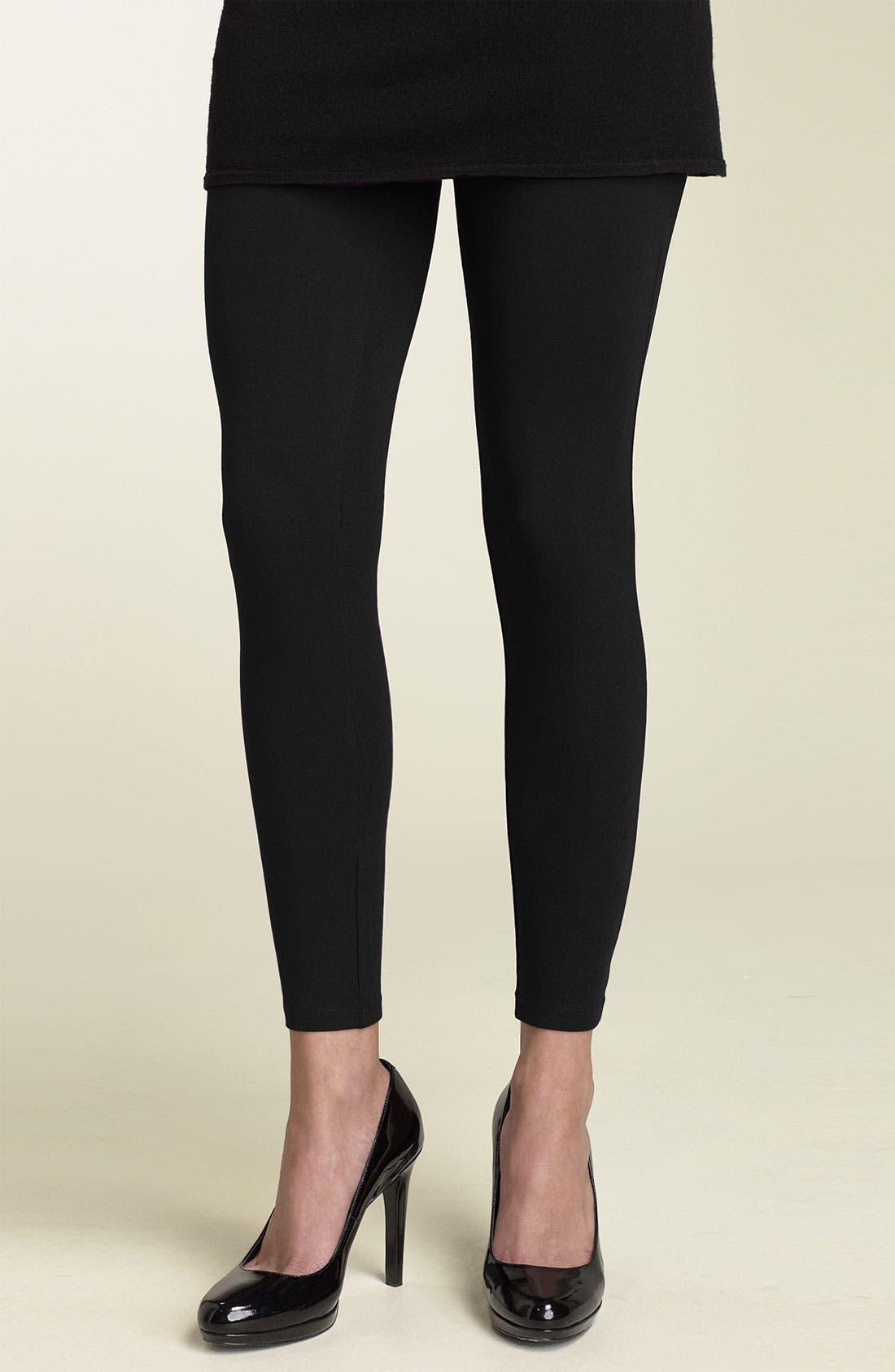 Stretch Cotton Leggings,                         Main,                         color, 001