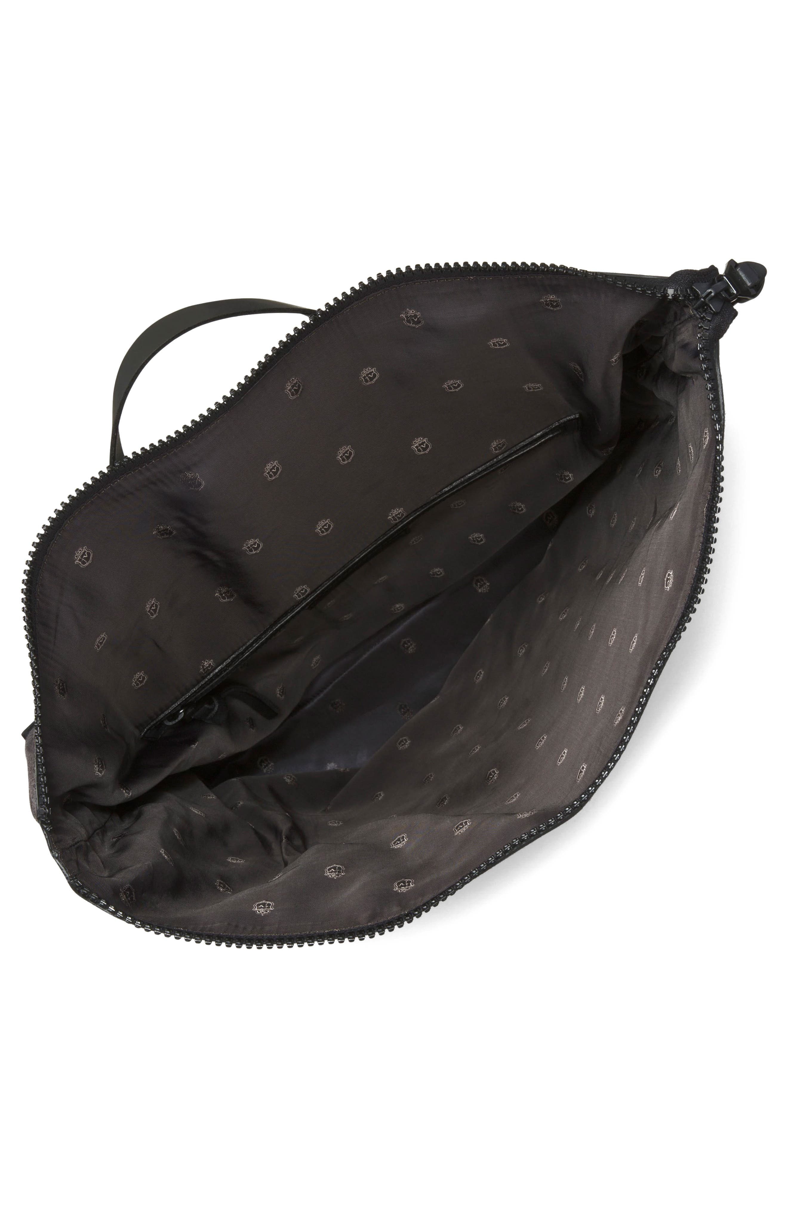 Suede & Ballistic Nylon Backpack,                             Alternate thumbnail 3, color,                             094