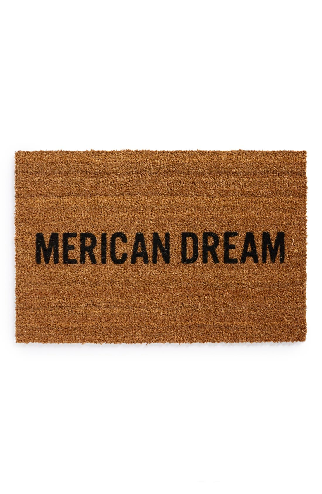 'Merican Dream' Doormat,                             Main thumbnail 1, color,                             BROWN