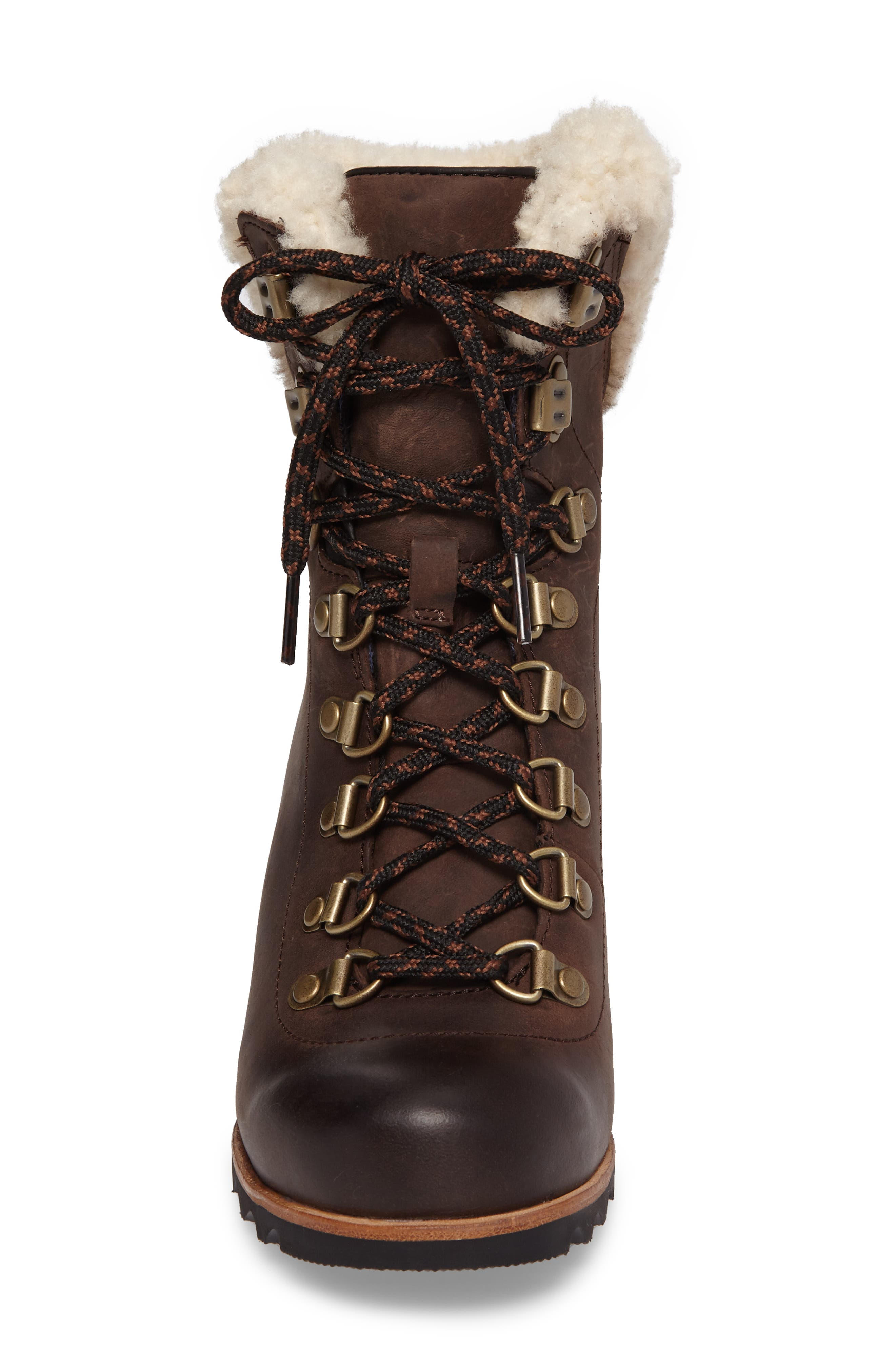 Conquest Genuine Shearling Cuff Waterproof Boot,                             Alternate thumbnail 4, color,                             200