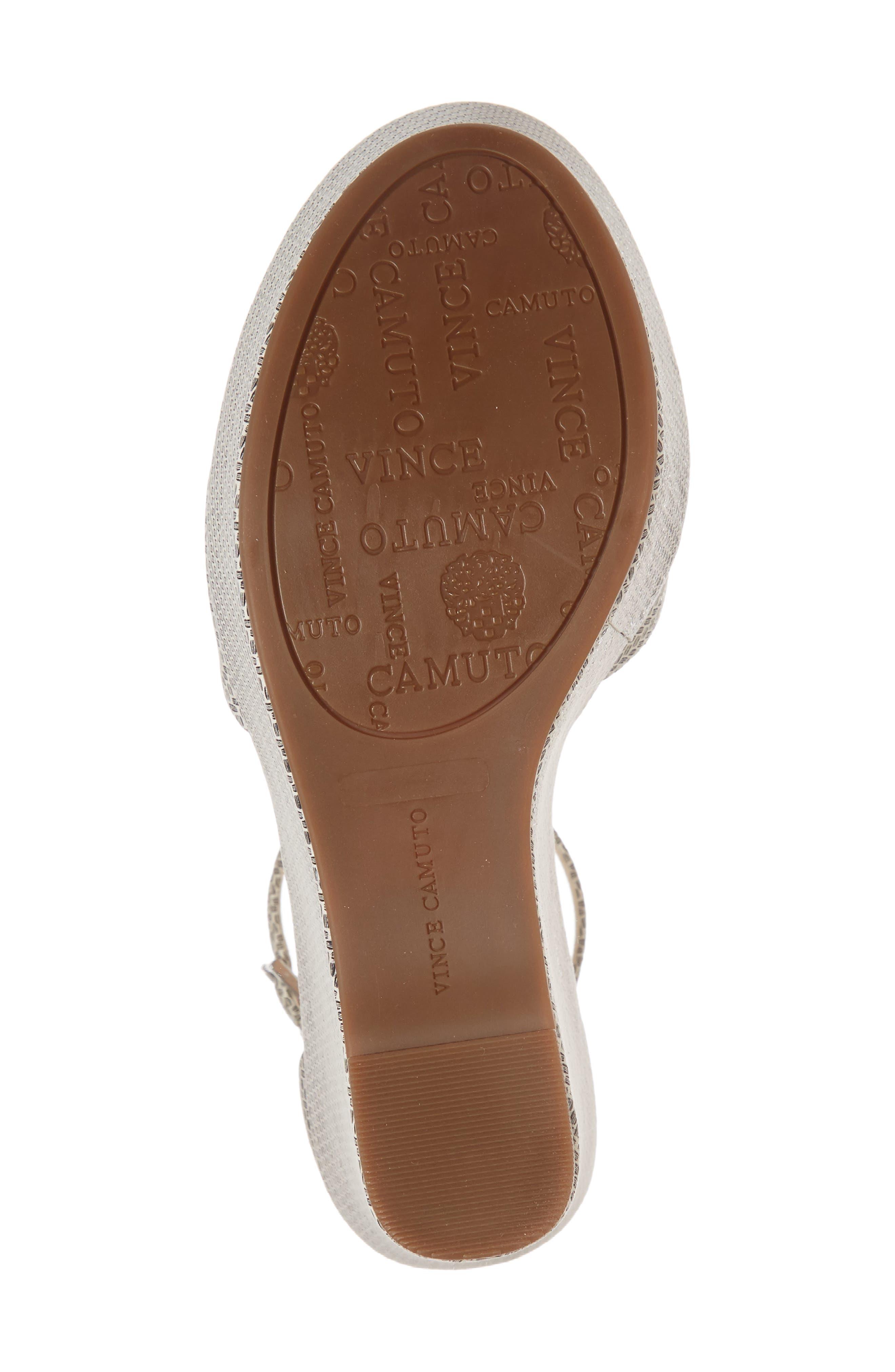Tatchen Ankle Strap Platform Sandal,                             Alternate thumbnail 6, color,                             002