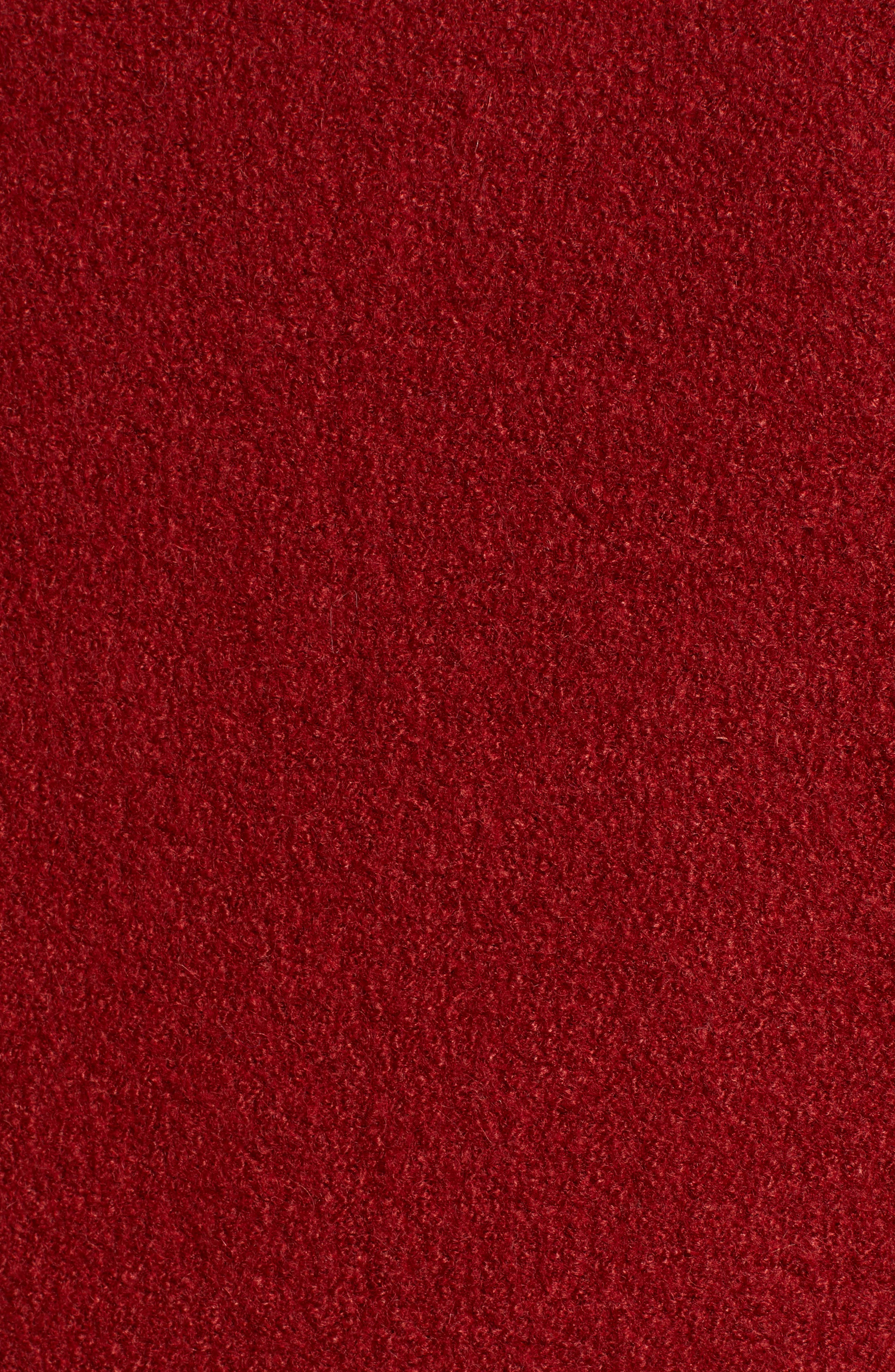 HALOGEN<SUP>®</SUP>,                             Asymmetrical Zip Boiled Wool Blend Coat,                             Alternate thumbnail 7, color,                             BRICK RED