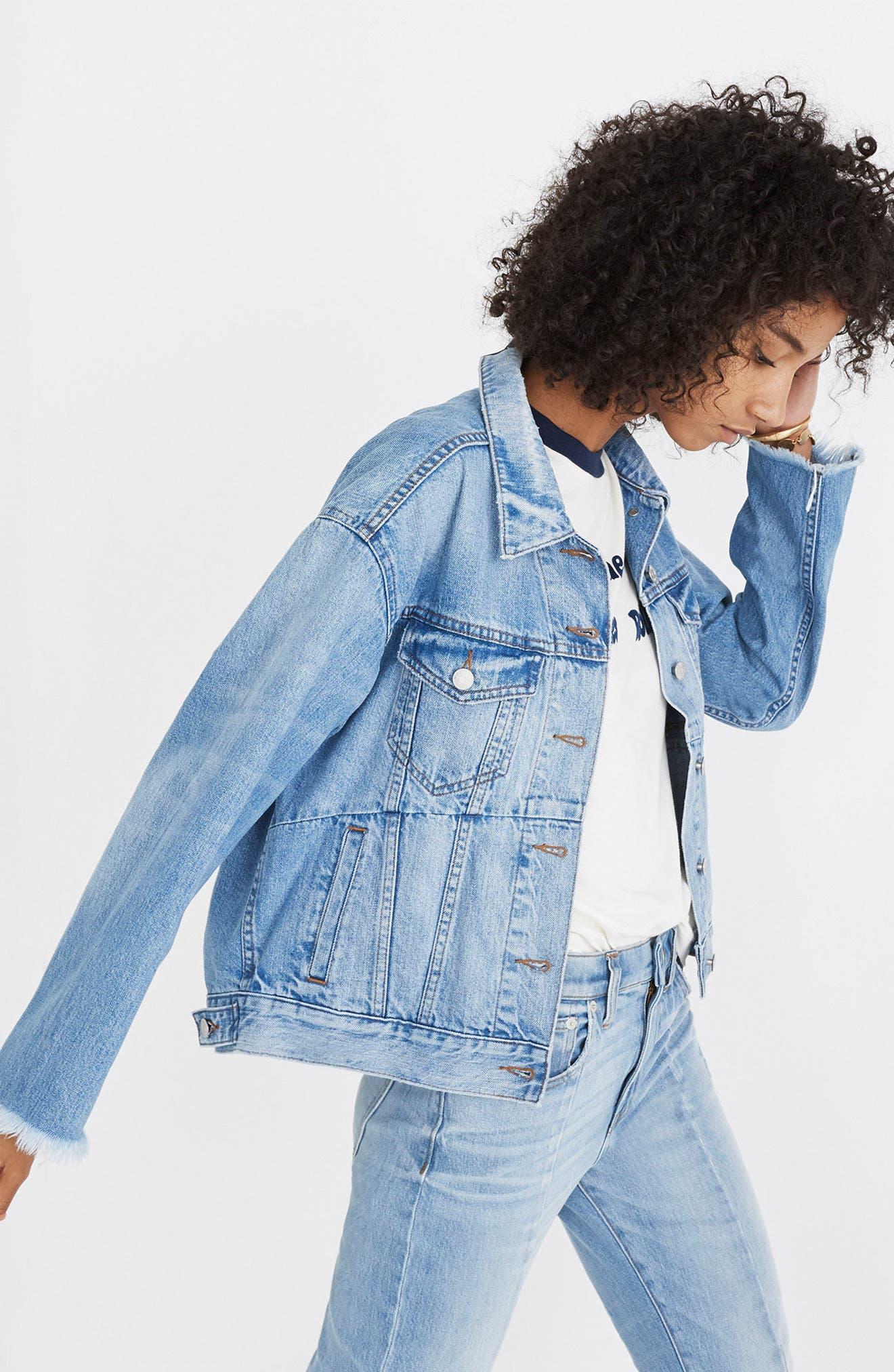 Reconstructed Jean Jacket,                             Alternate thumbnail 5, color,                             400