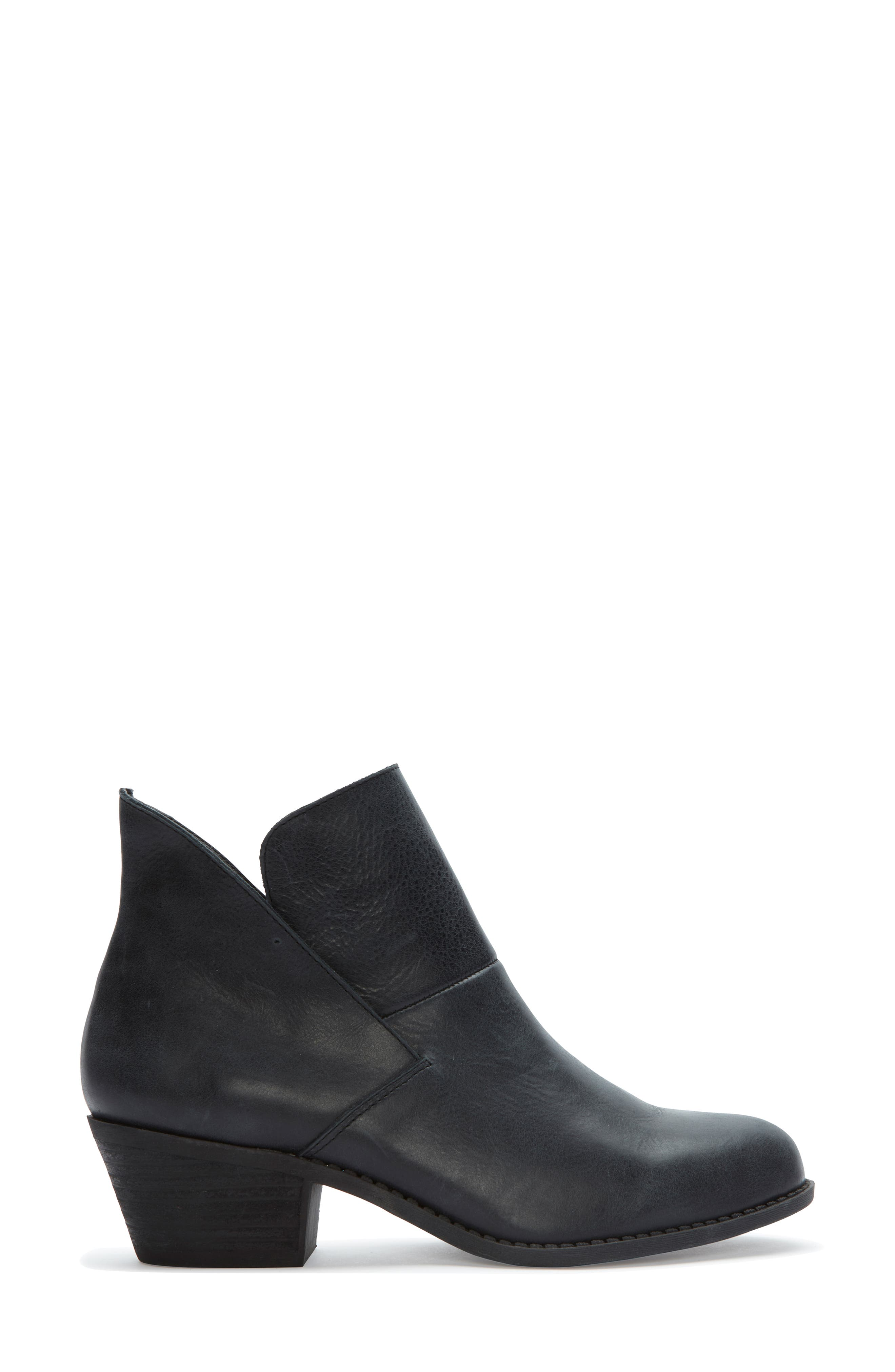 Me Too Zena Ankle Boot,                             Alternate thumbnail 3, color,                             BLACK LEATHER