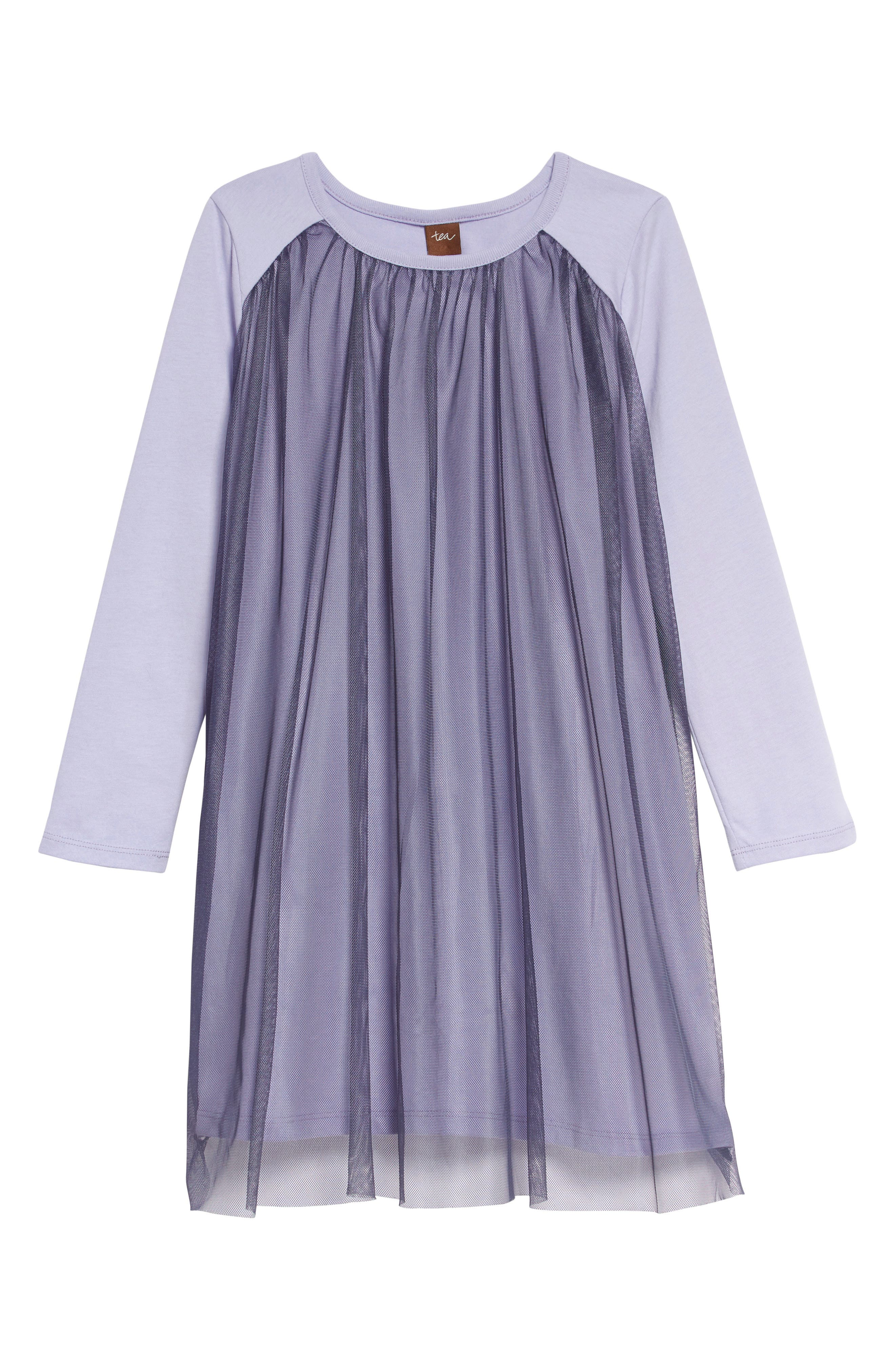 Twirling Tulle Dress,                             Main thumbnail 1, color,                             LILAC MIST