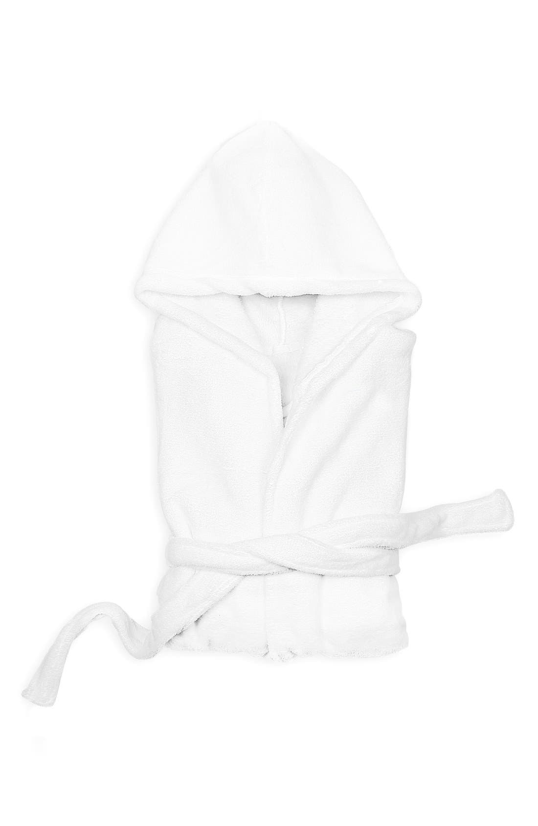 Personalized Plush Hooded Spa Robe,                             Main thumbnail 1, color,                             100