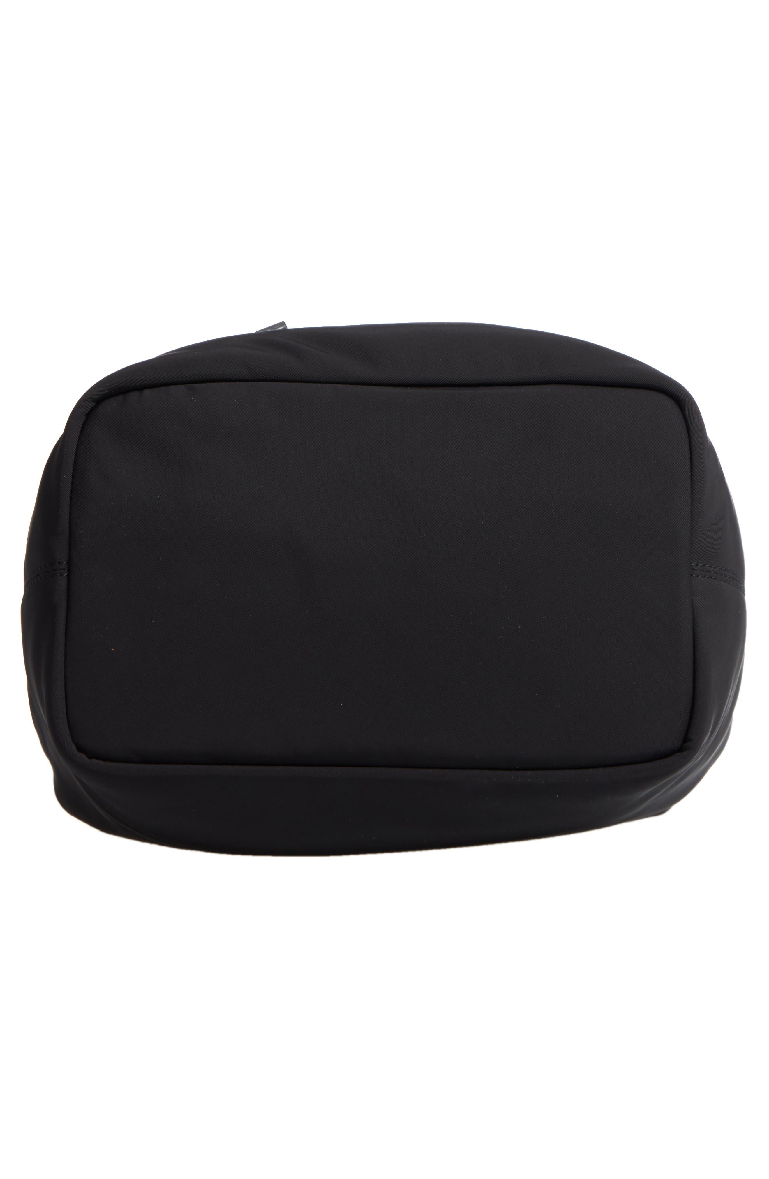 Medium Ann Nylon Bucket Bag,                             Alternate thumbnail 6, color,                             001