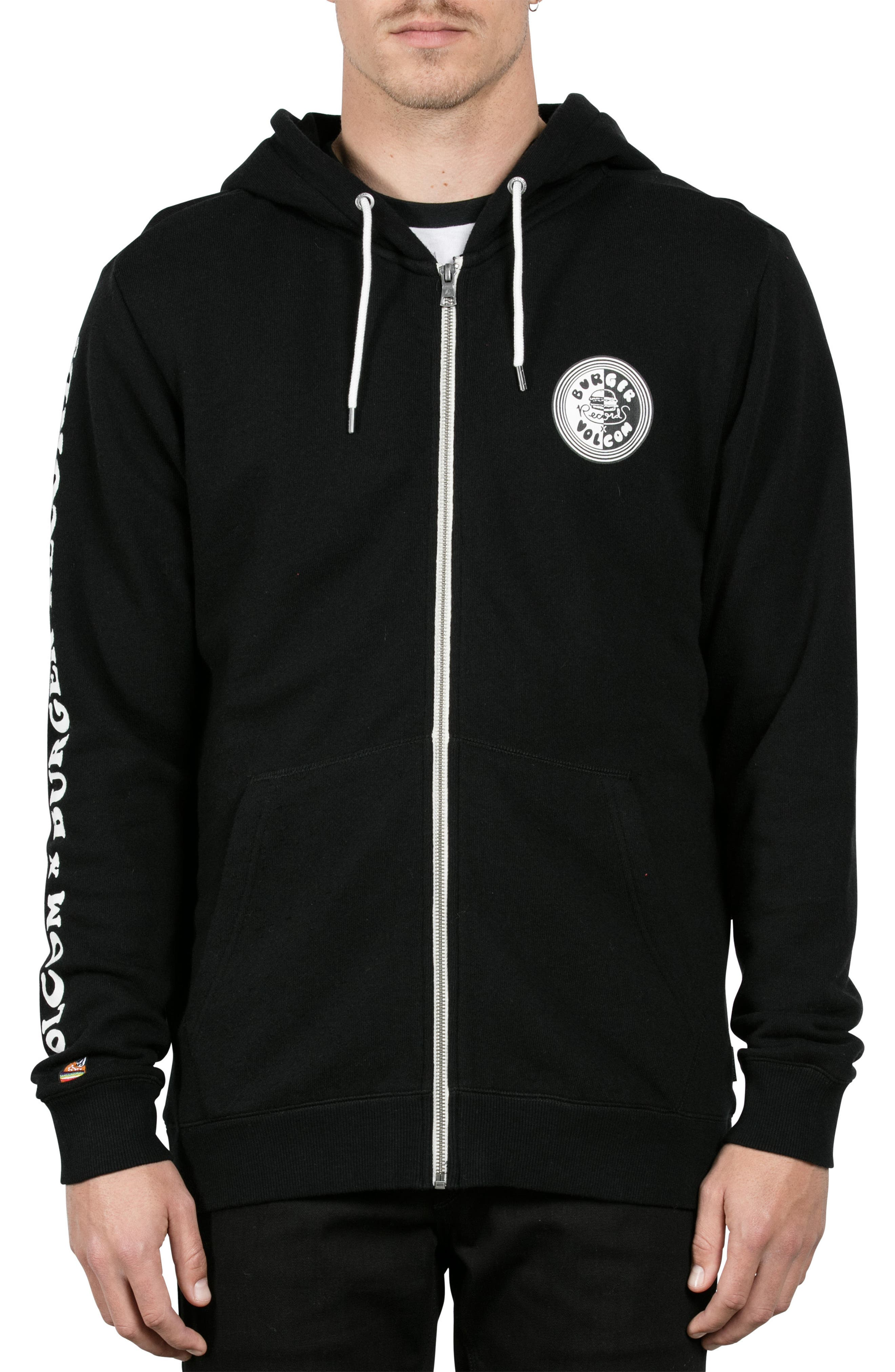 x Burger Records Hoodie,                         Main,                         color, 001