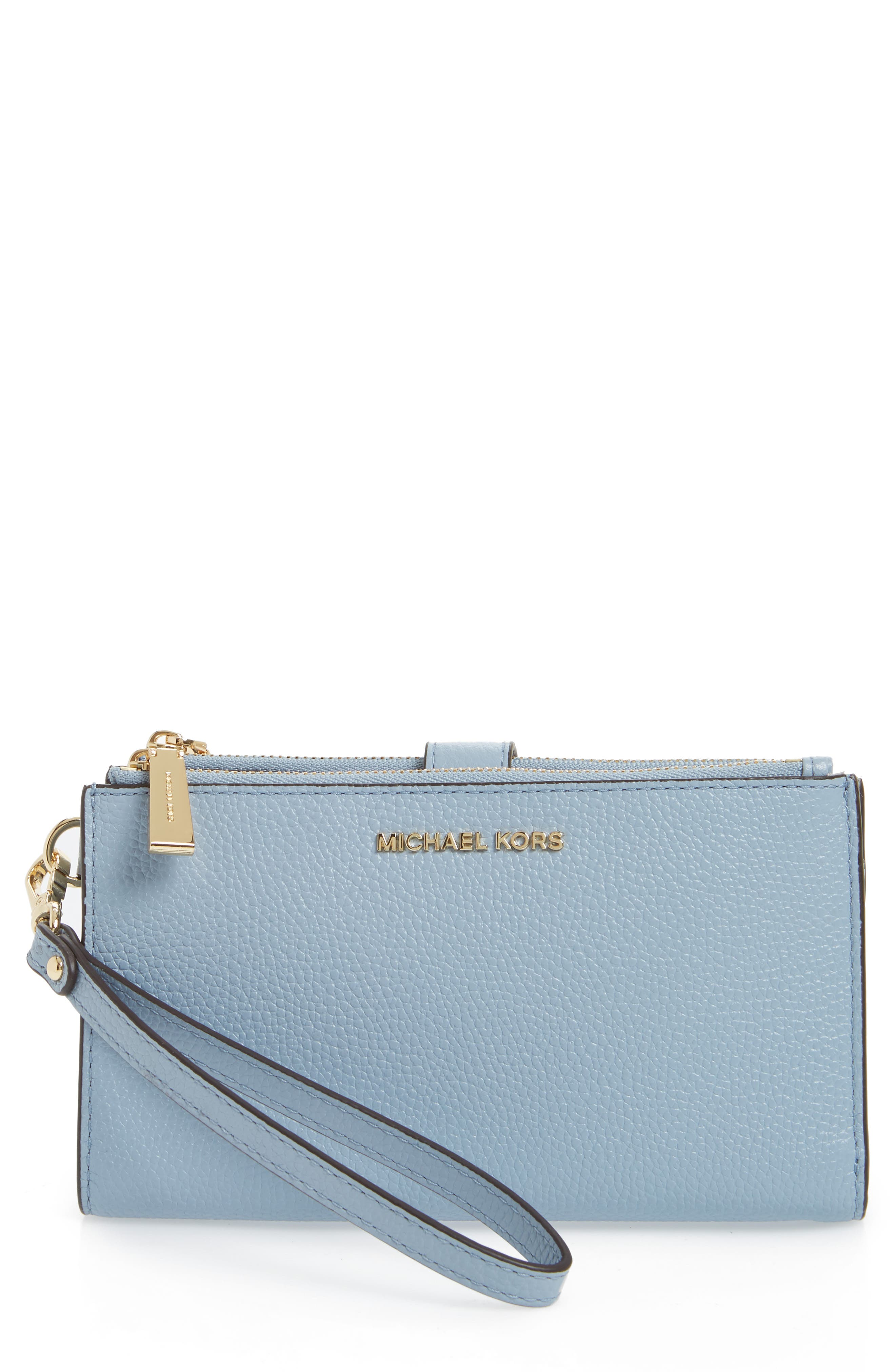 Adele Leather Wristlet,                             Main thumbnail 2, color,