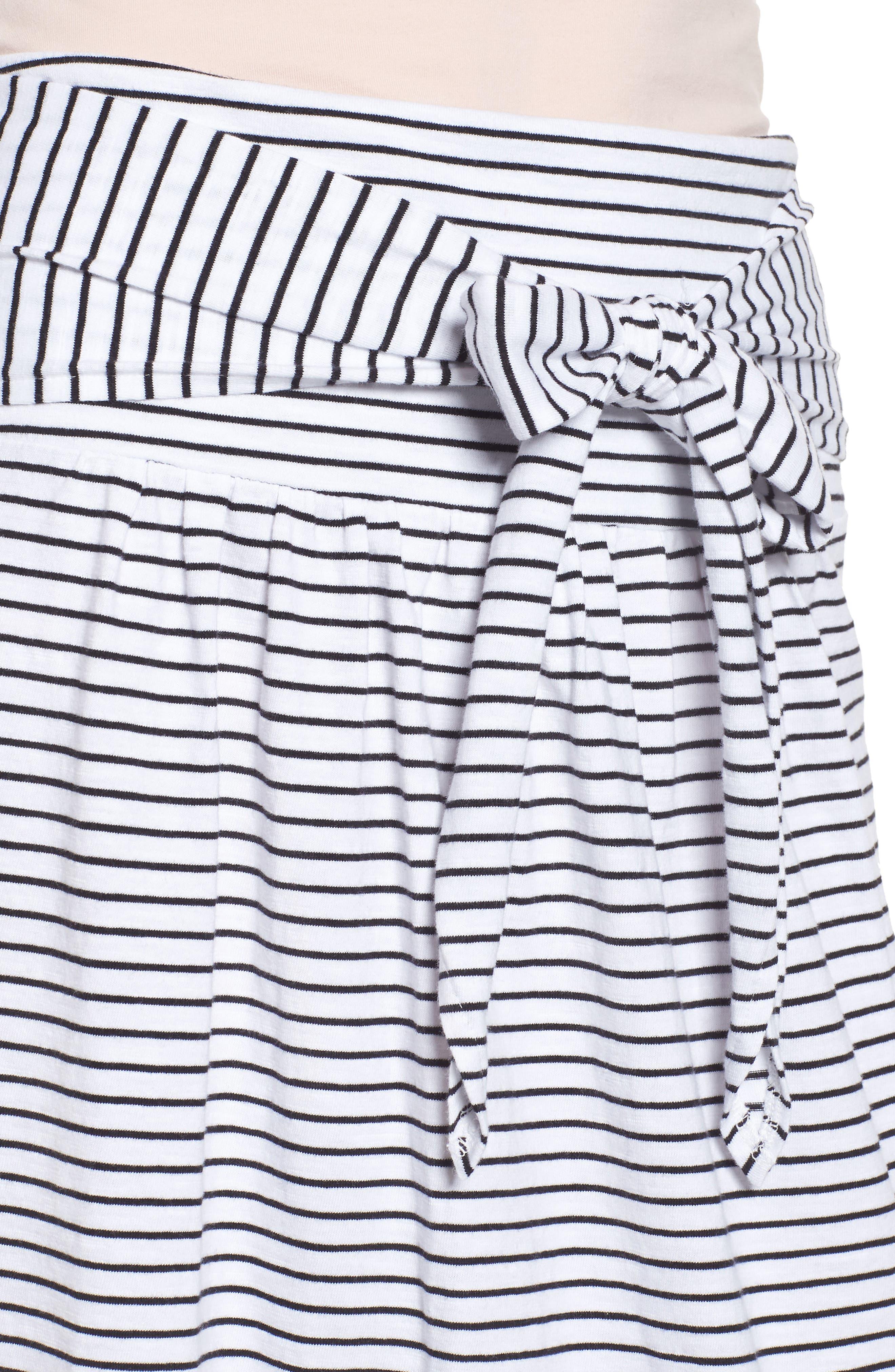 Tie Front Cotton Maxi Skirt,                             Alternate thumbnail 17, color,