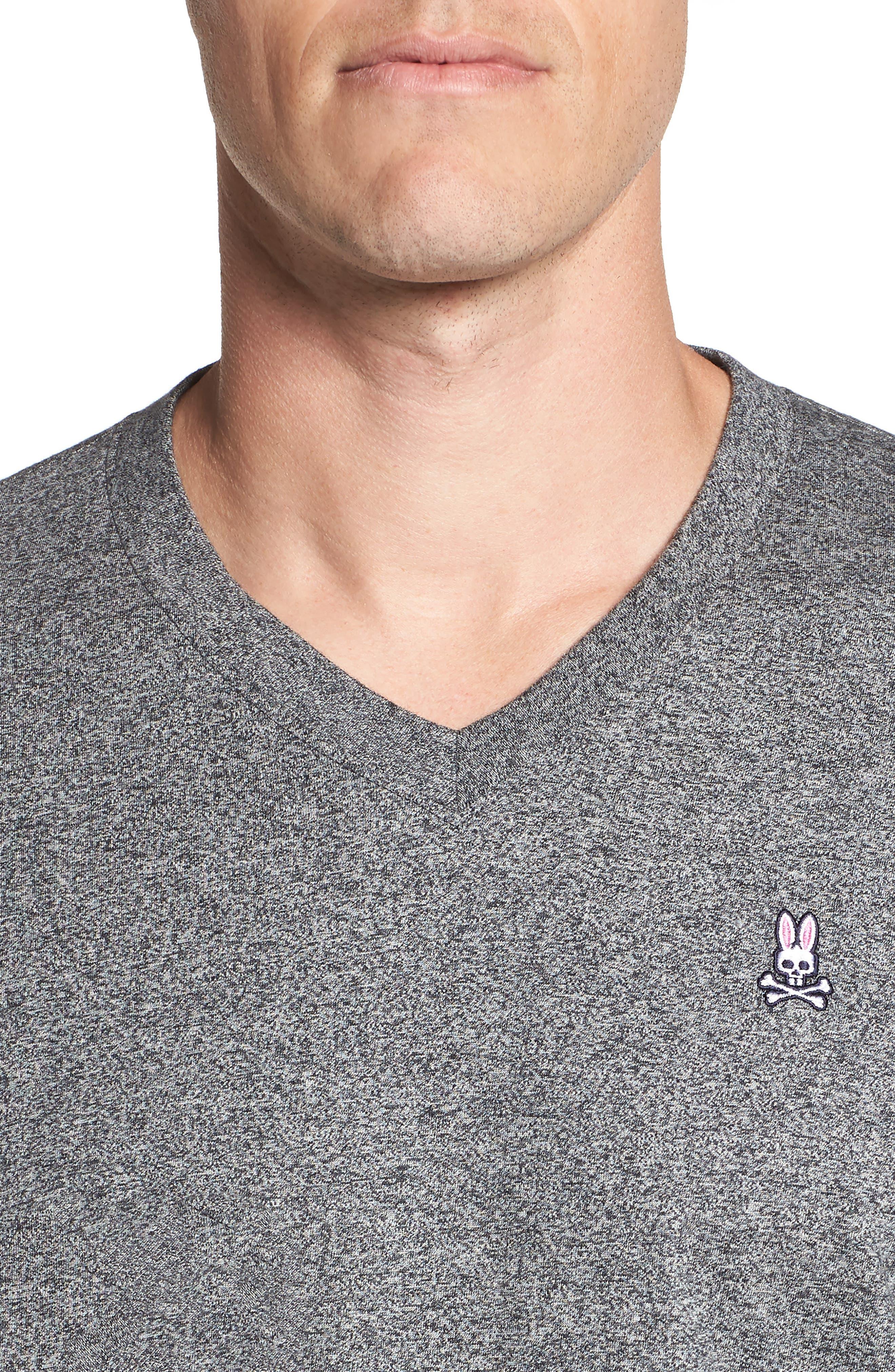 V-Neck T-Shirt,                             Alternate thumbnail 4, color,                             GREY SALT PEPPER