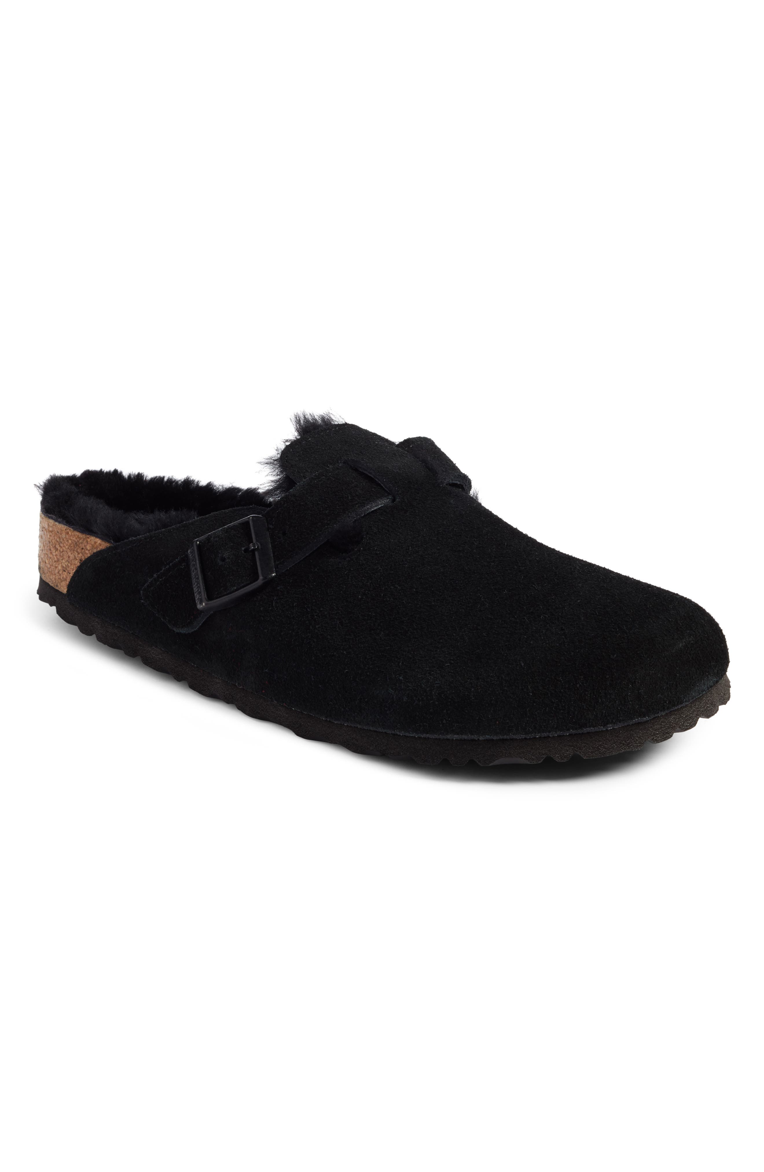 Boston Genuine Shearling Lined Clog,                         Main,                         color,