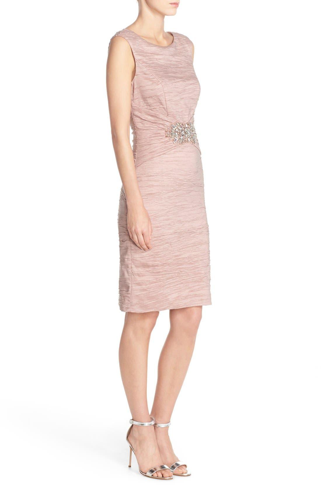 Embellished Taffeta Sheath Dress,                             Alternate thumbnail 12, color,
