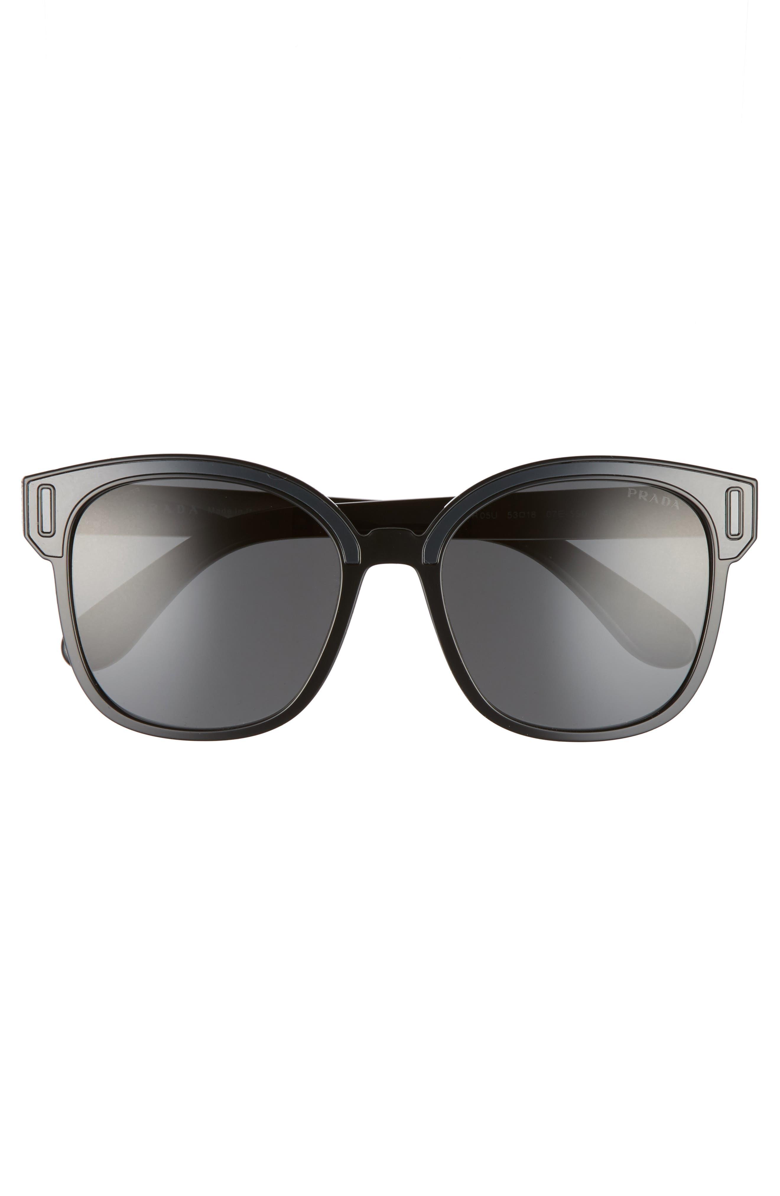 53mm Colorblock Square Sunglasses,                             Alternate thumbnail 3, color,                             022
