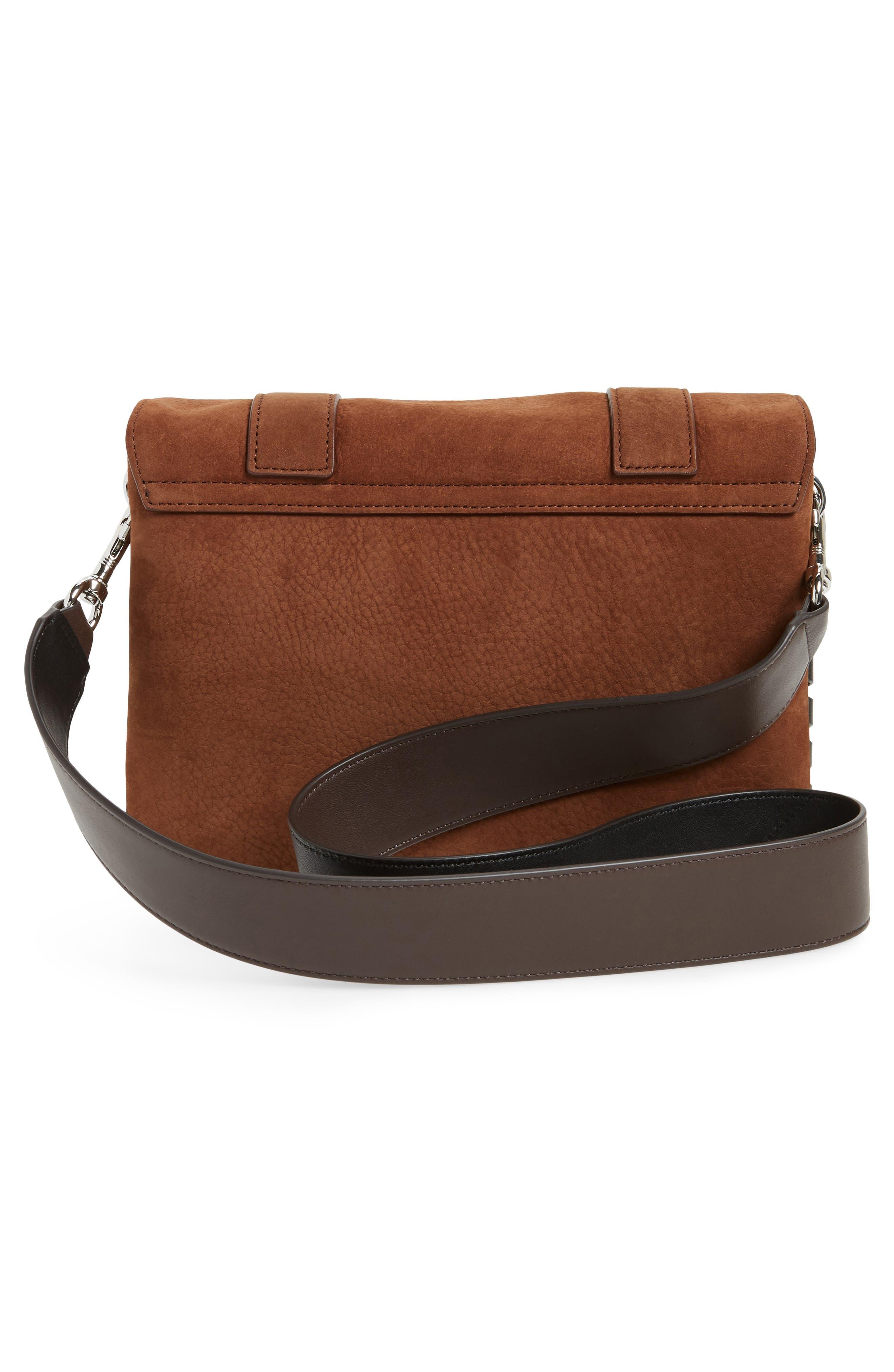 Fin Leather Box Bag,                             Alternate thumbnail 3, color,                             200