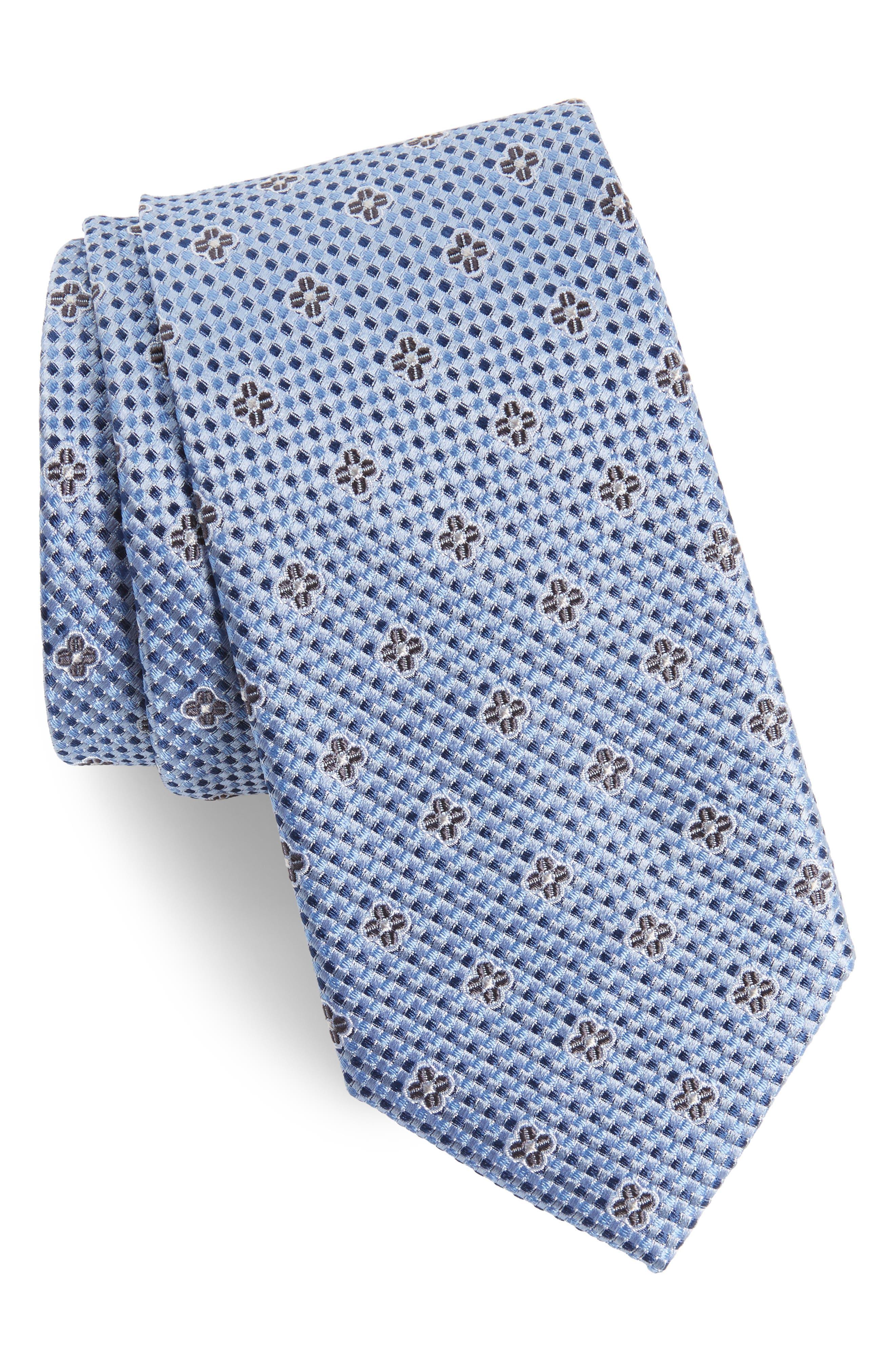 Textured Floral Silk Tie,                         Main,                         color, 400