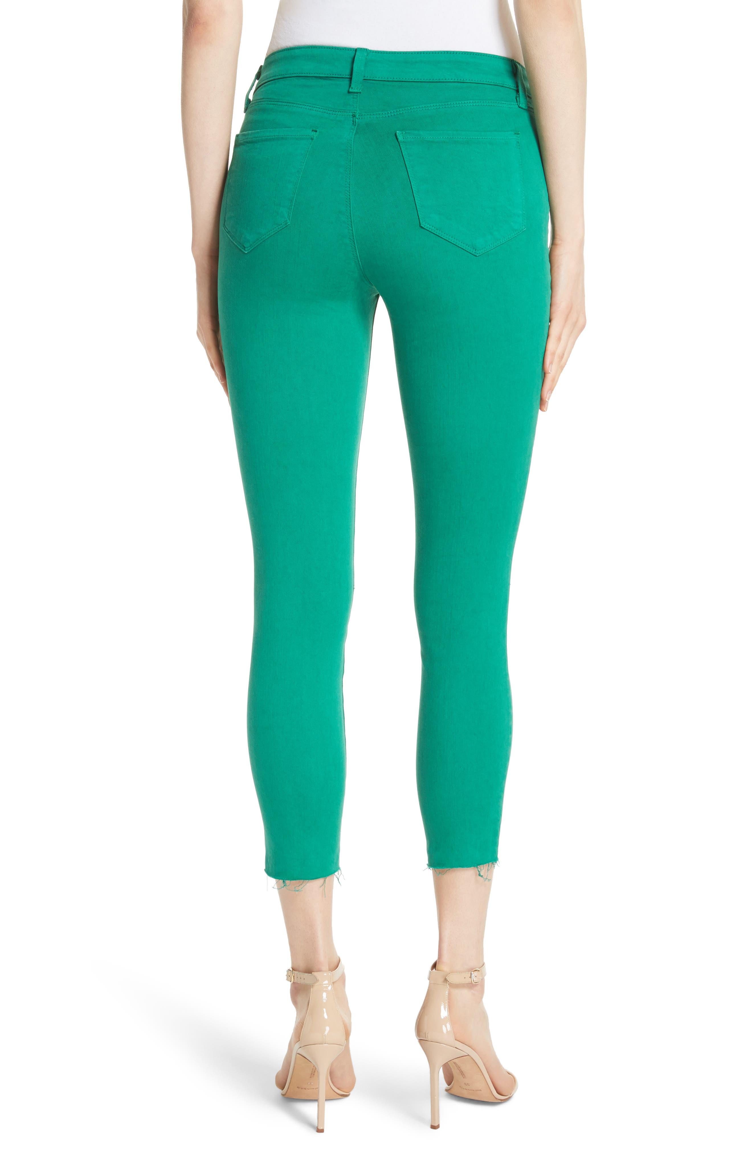 Margot Crop Skinny Jeans,                             Alternate thumbnail 2, color,                             EMERALD