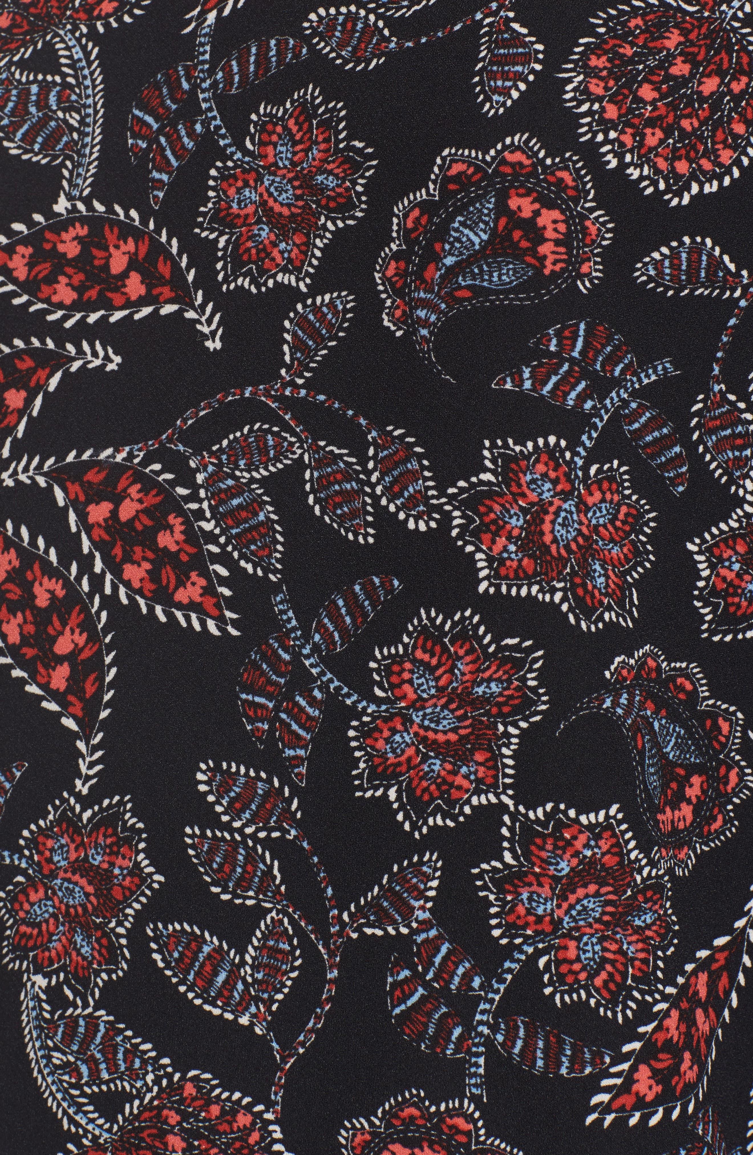 Greta Bell Sleeve Blouse,                             Alternate thumbnail 5, color,                             001