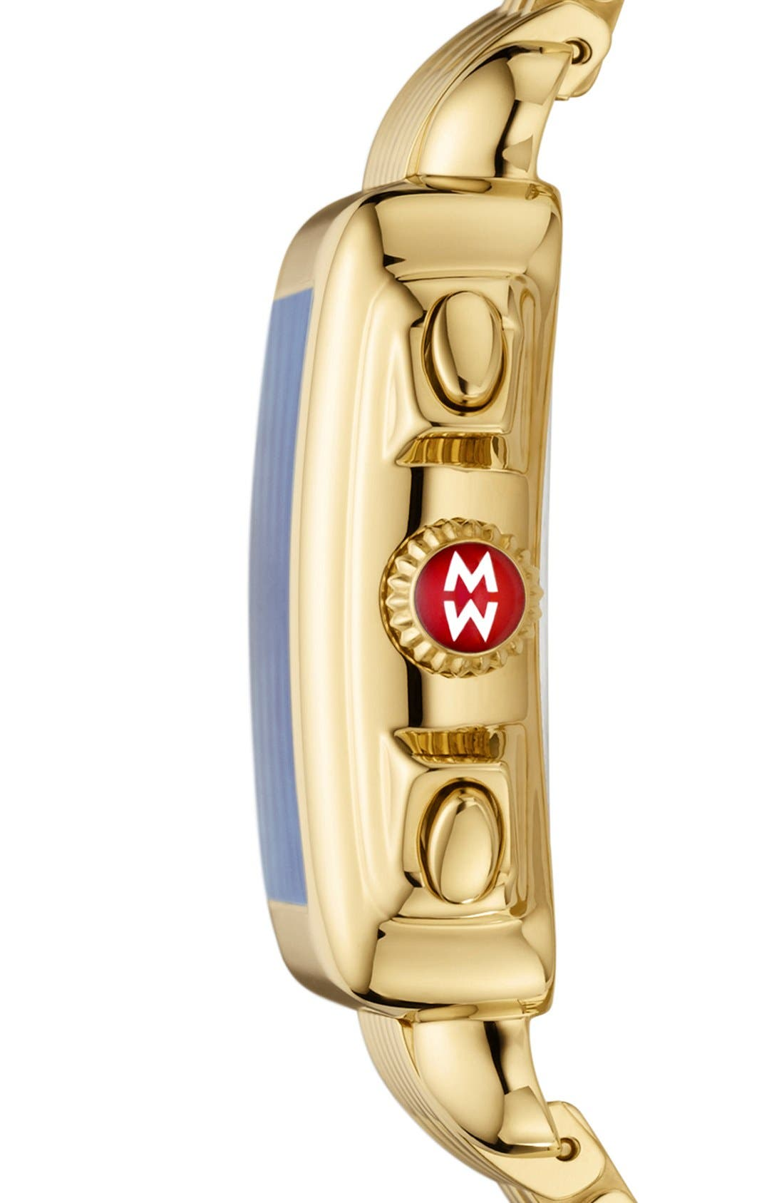 Deco Diamond Dial Gold Plated Watch Case, 33mm x 35mm,                             Alternate thumbnail 34, color,