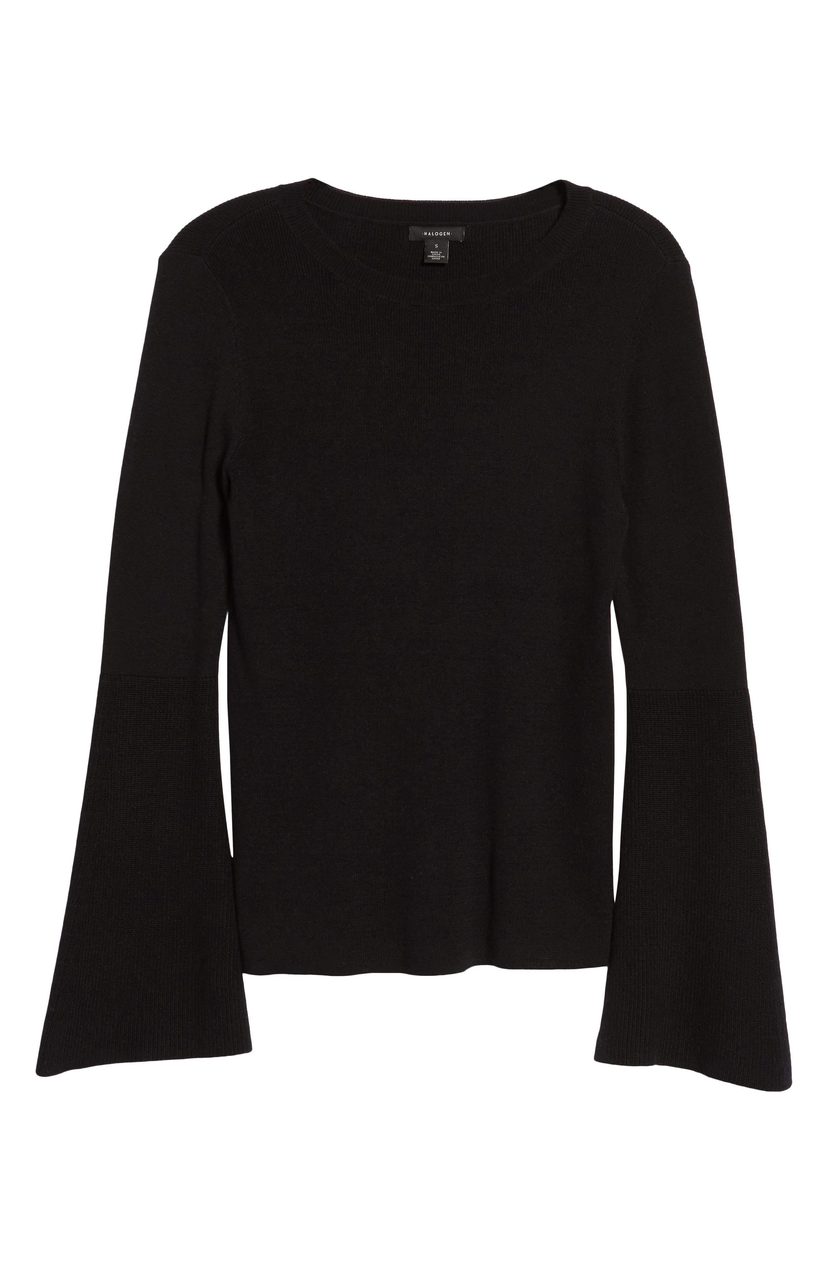 Bell Sleeve Rib Sweater,                             Alternate thumbnail 21, color,