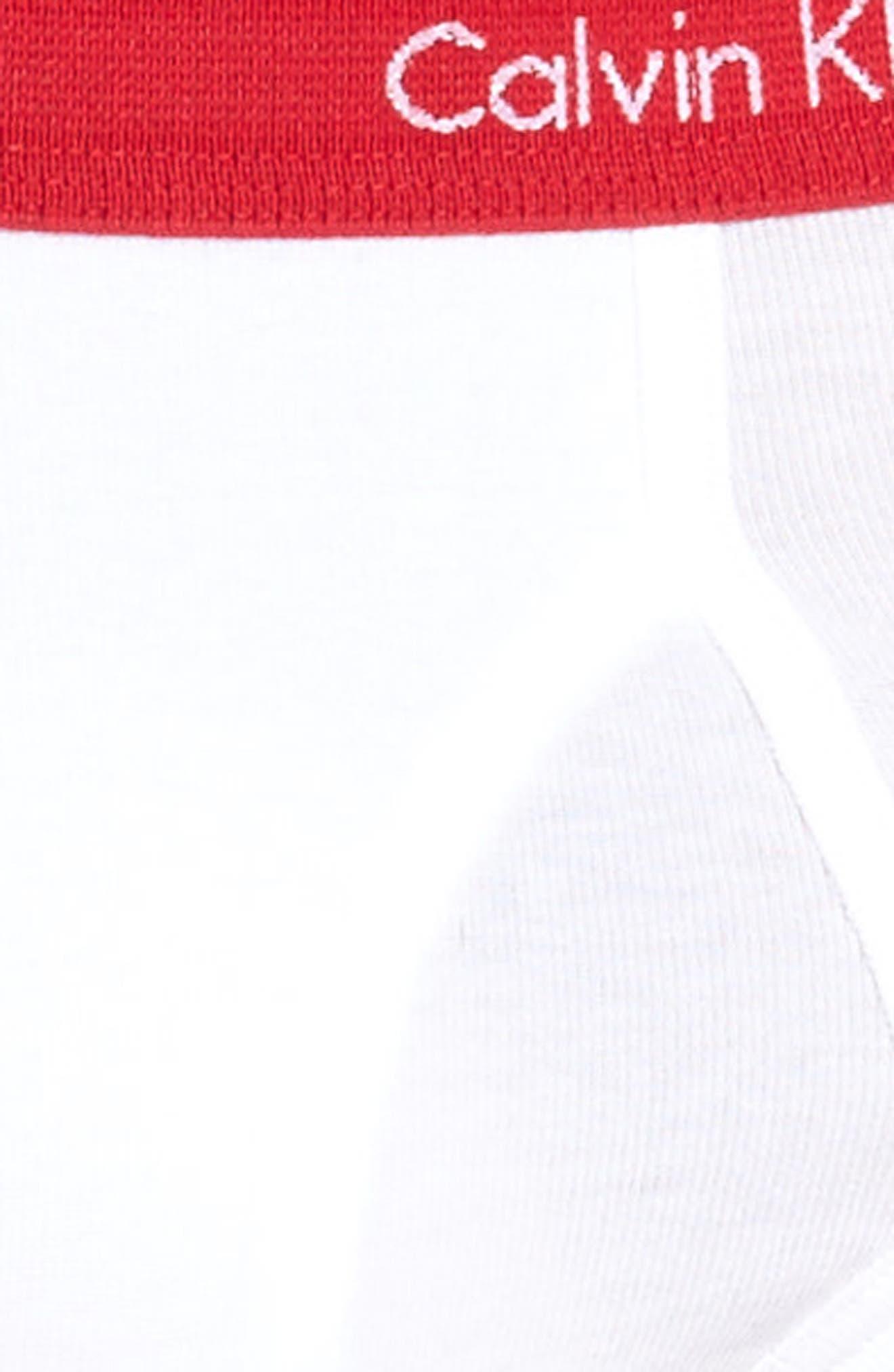 Classic 5-Pack Cotton Briefs,                             Alternate thumbnail 5, color,                             WHITE W/ VARIOUS WB