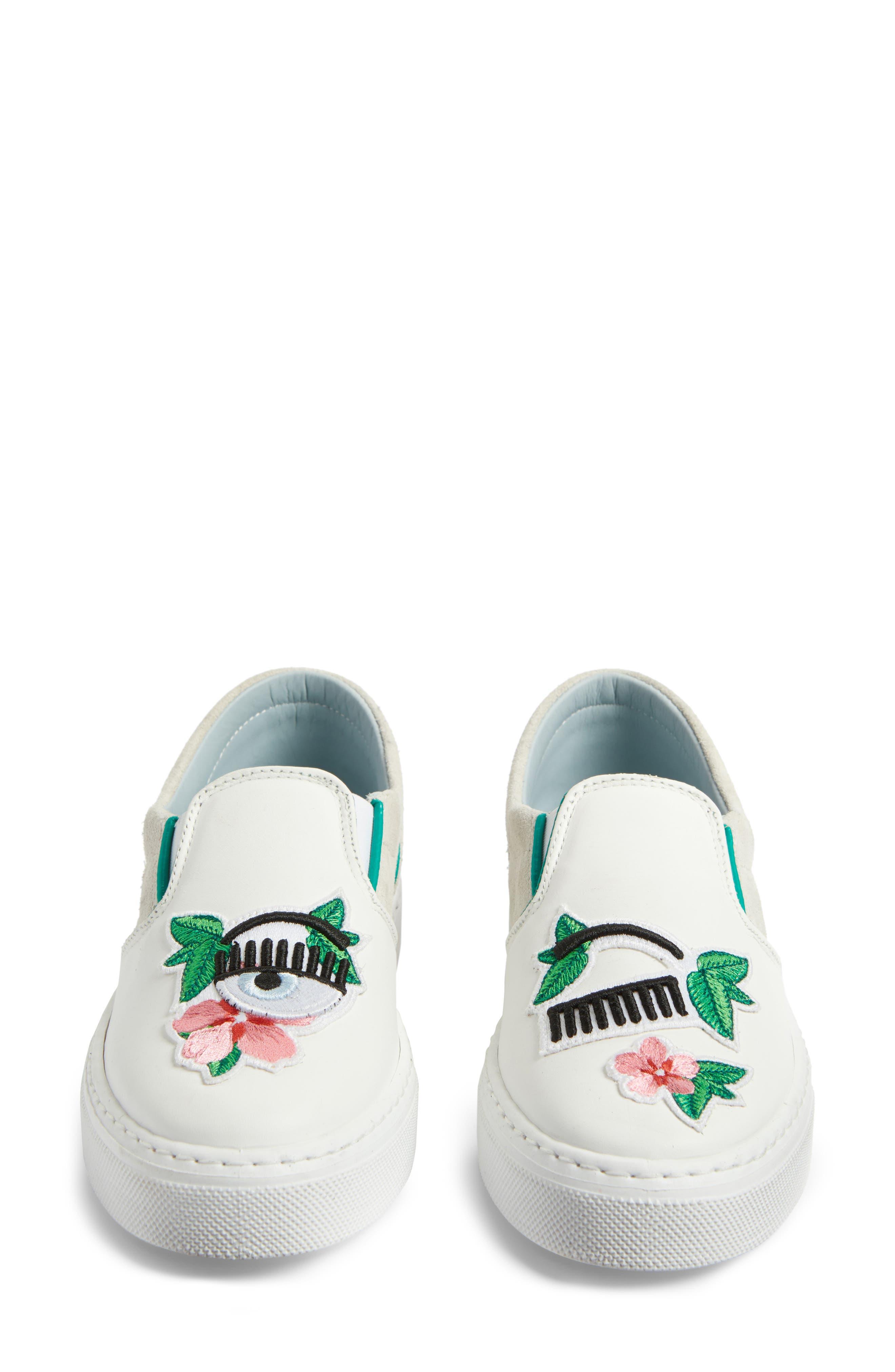 Flower Power Slip-On Sneaker,                             Alternate thumbnail 5, color,                             168
