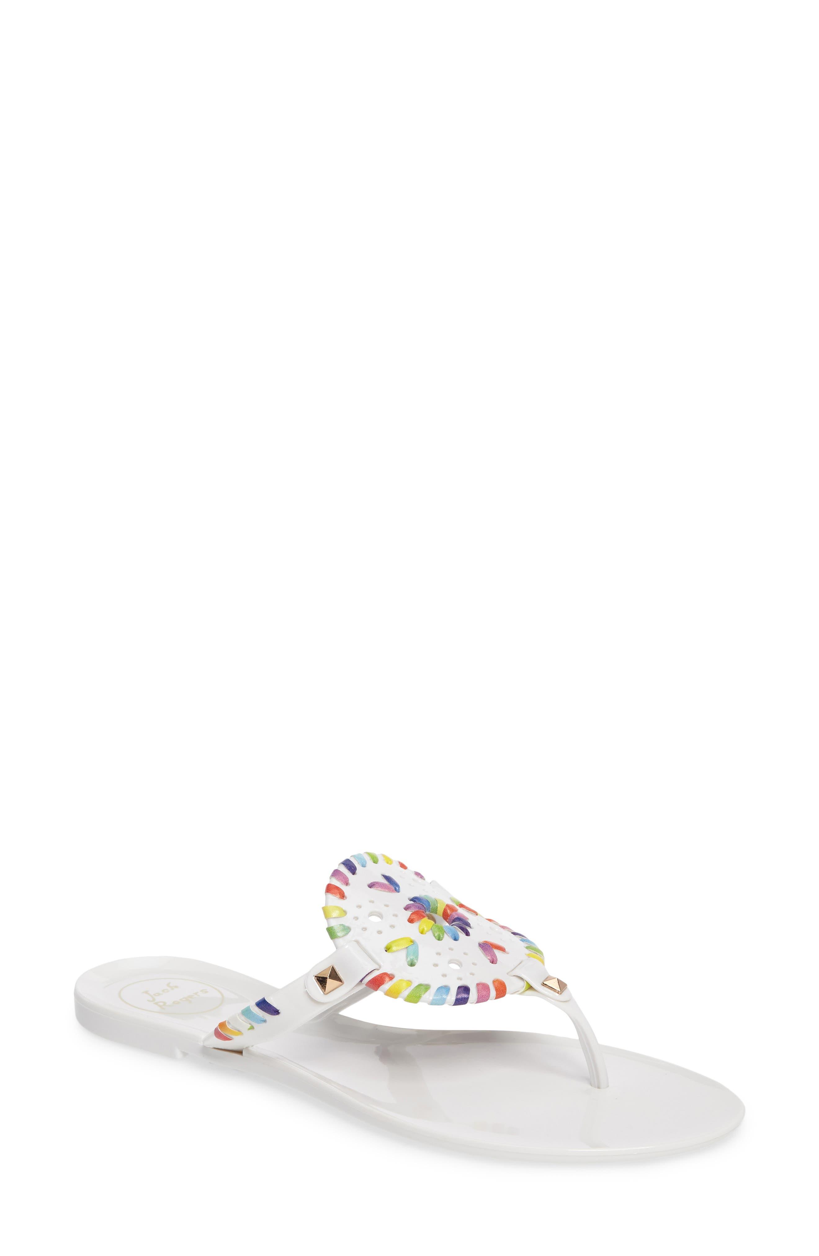 'Georgica' Jelly Flip Flop,                             Main thumbnail 27, color,