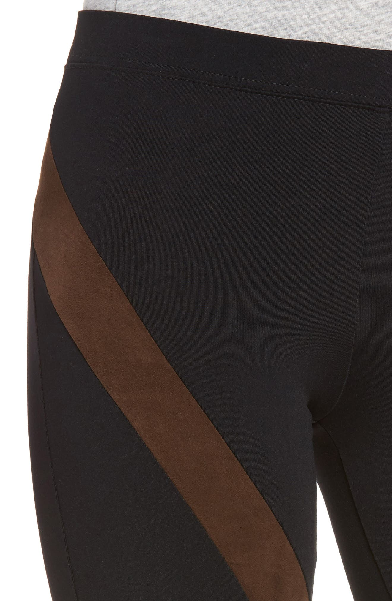 Seamed Leggings,                             Alternate thumbnail 4, color,                             001