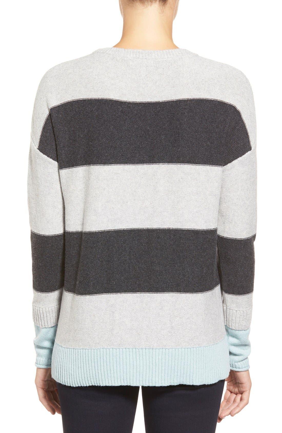 Contrast Cuff Crewneck Sweater,                             Alternate thumbnail 27, color,