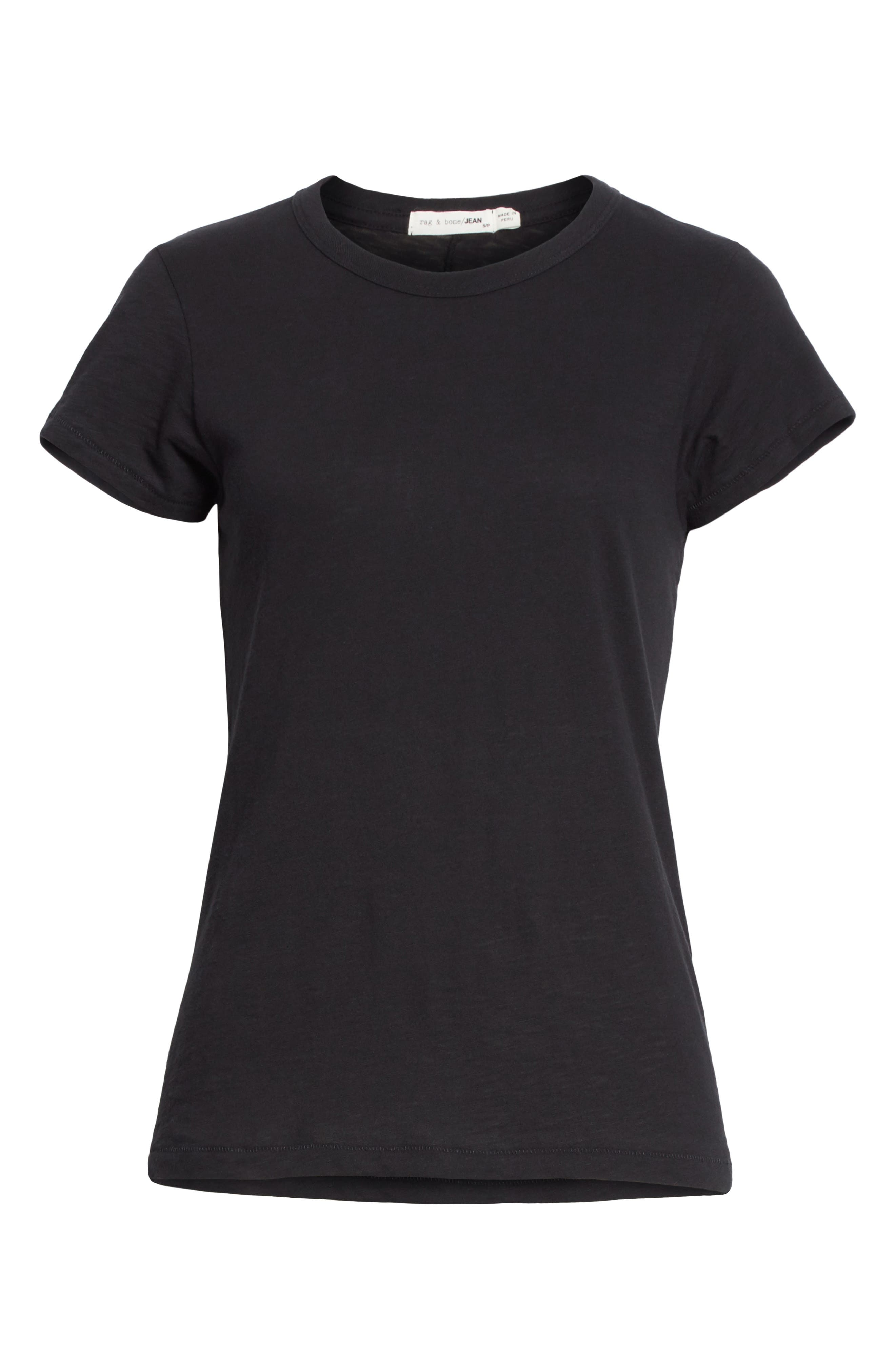 rag & bone The Tee,                             Alternate thumbnail 6, color,                             001