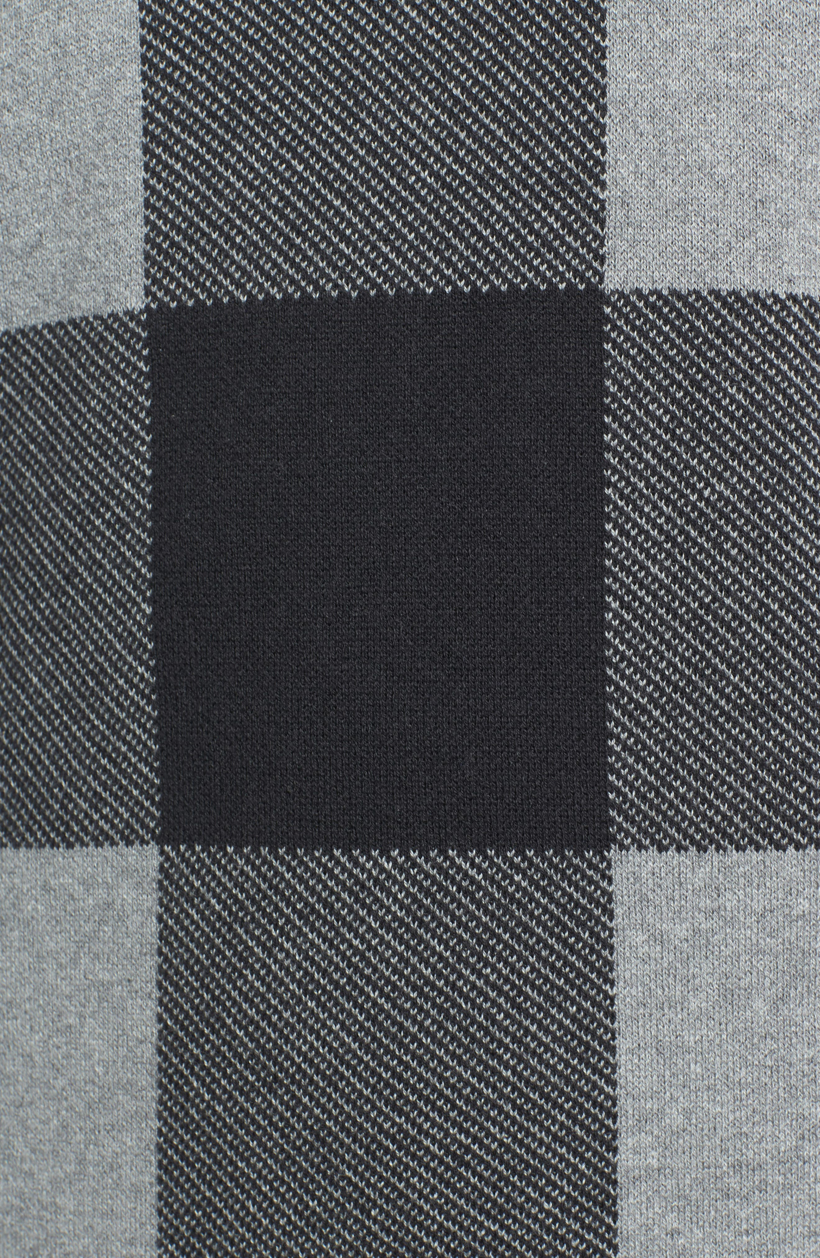 Oversize Buffalo Check Sweater,                             Alternate thumbnail 5, color,                             030