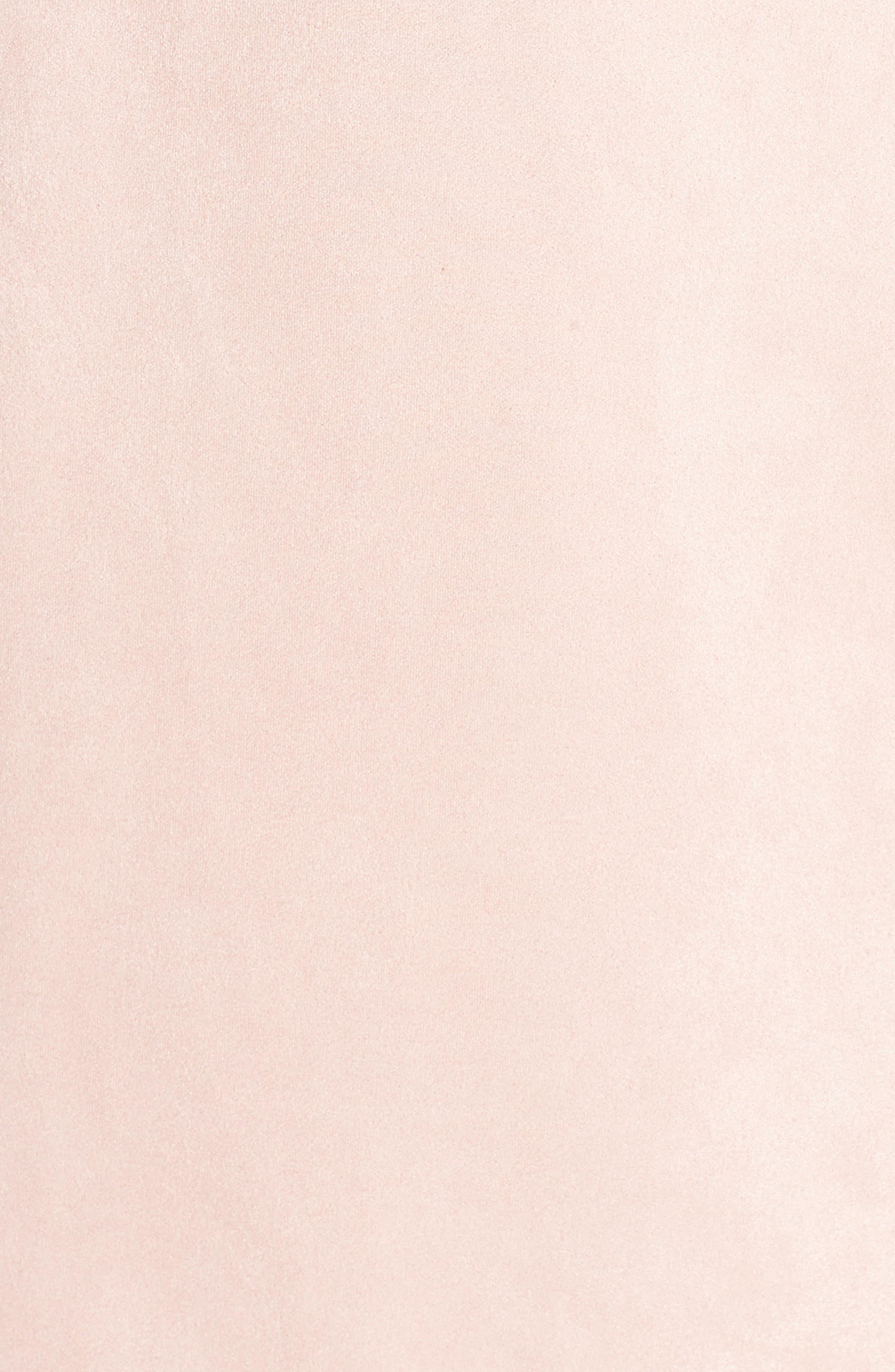 Short Sleeve Faux Suede Dress,                             Alternate thumbnail 6, color,                             TEAGOWN