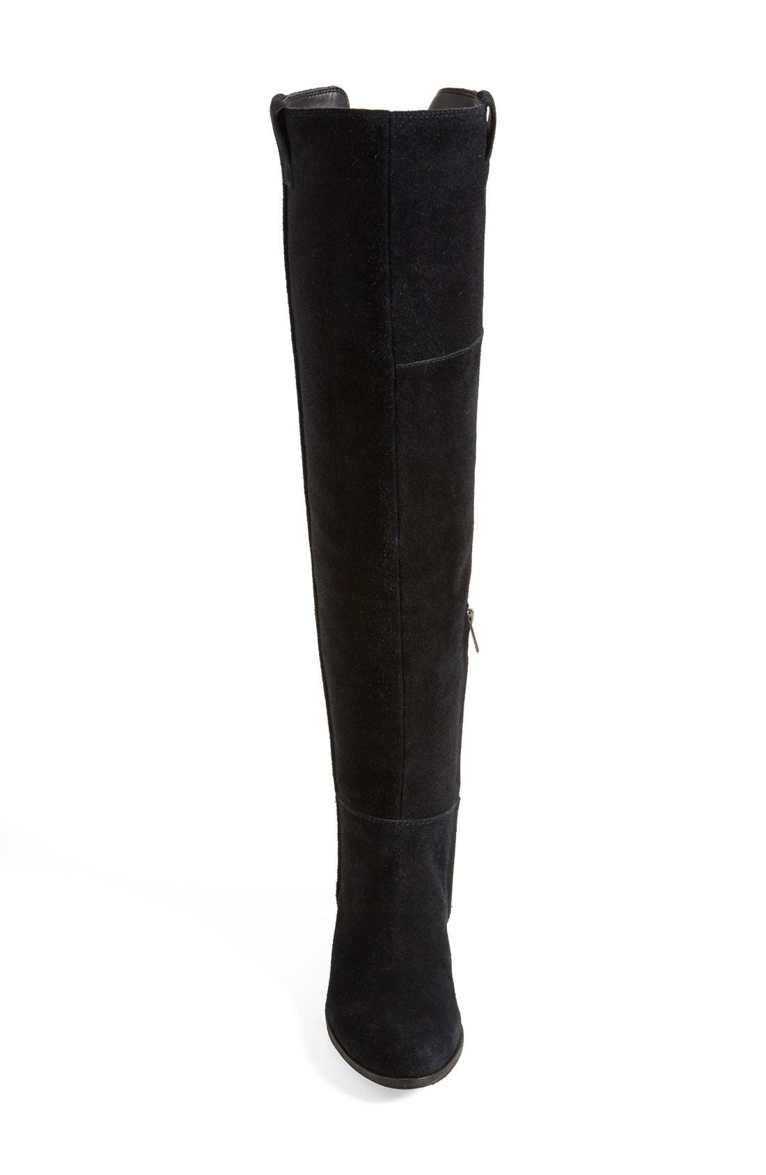 'Johanna' Over the Knee Suede Boot,                             Alternate thumbnail 2, color,                             001