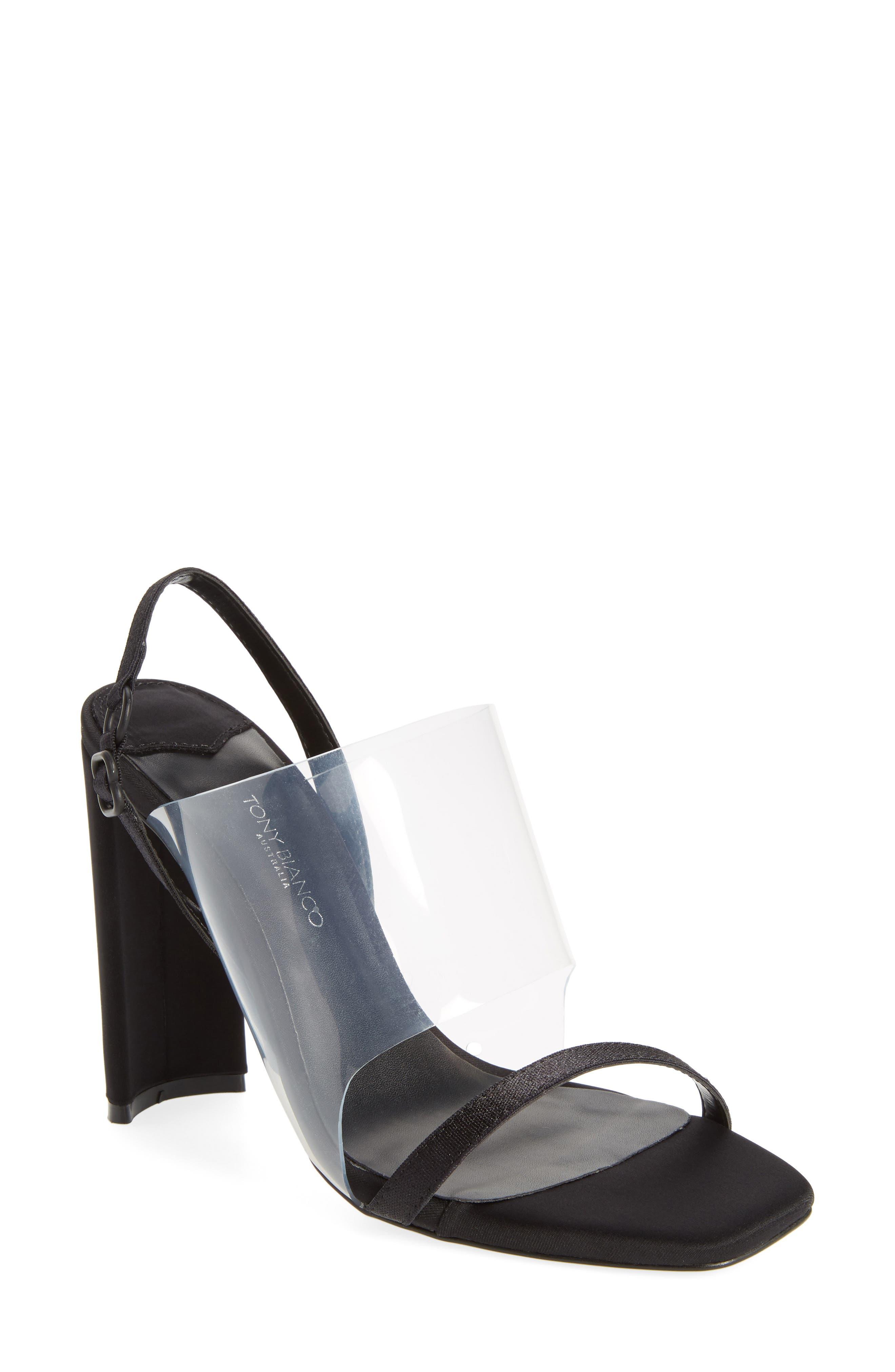 Sandal,                         Main,                         color, BLACK